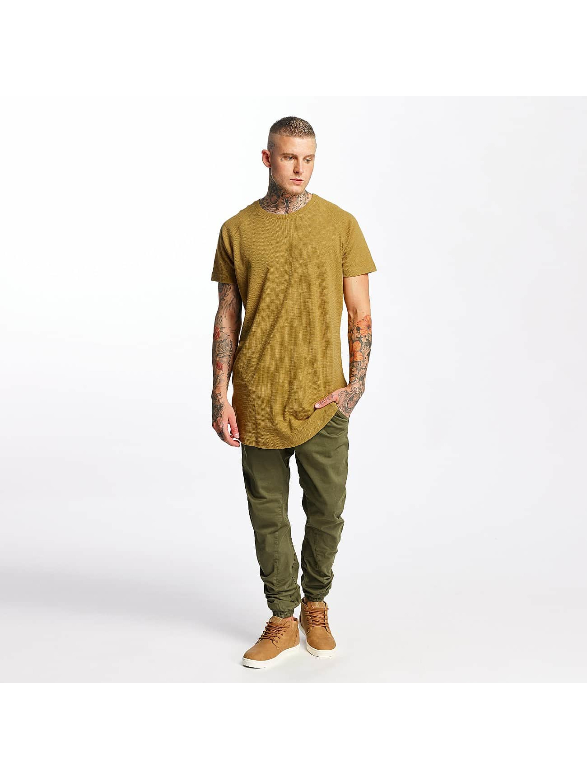 Urban Classics T-Shirty Thermal Slub Raglan brazowy