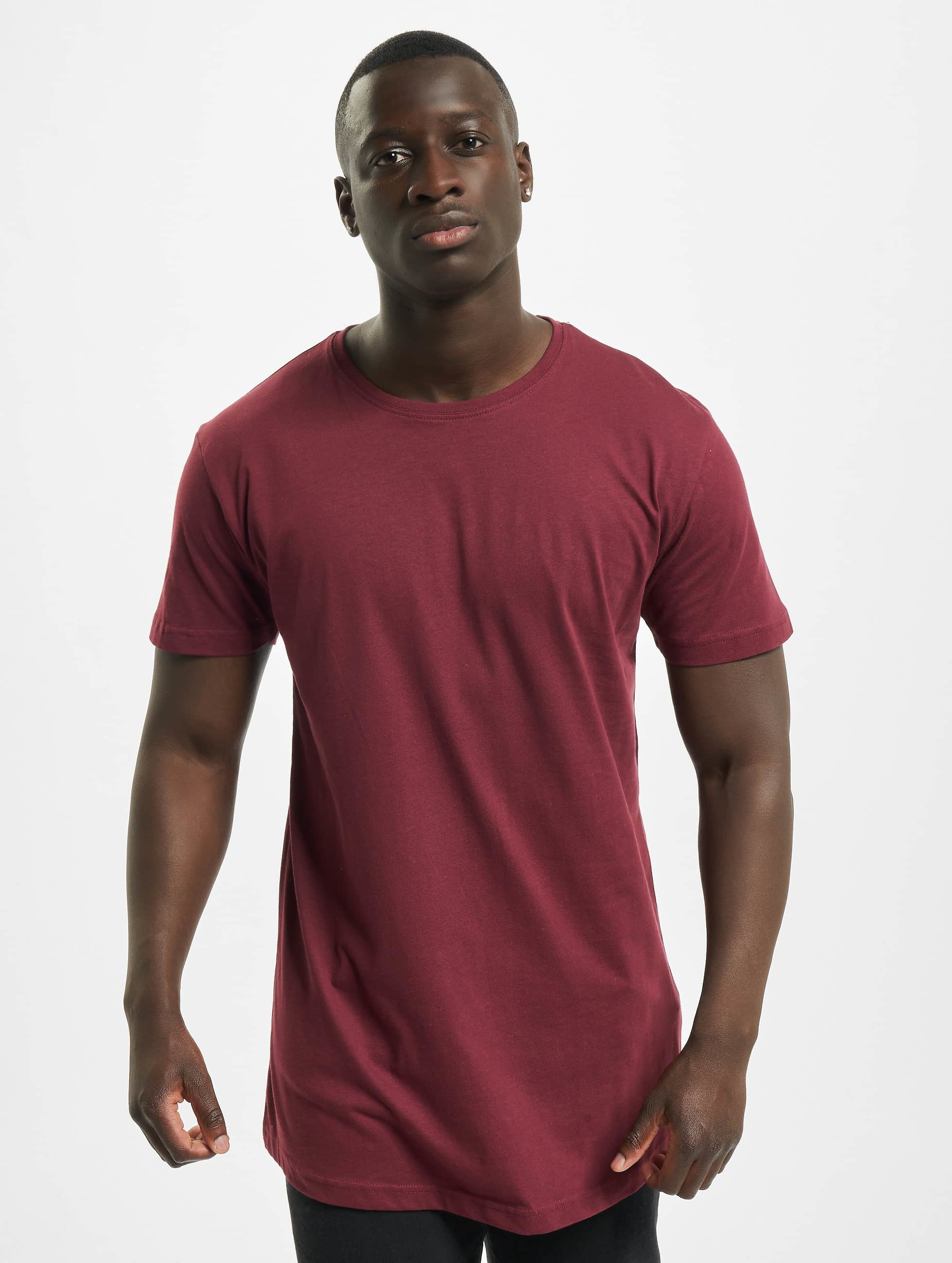 Urban Classics T-Shirty Shaped Oversized Long czerwony
