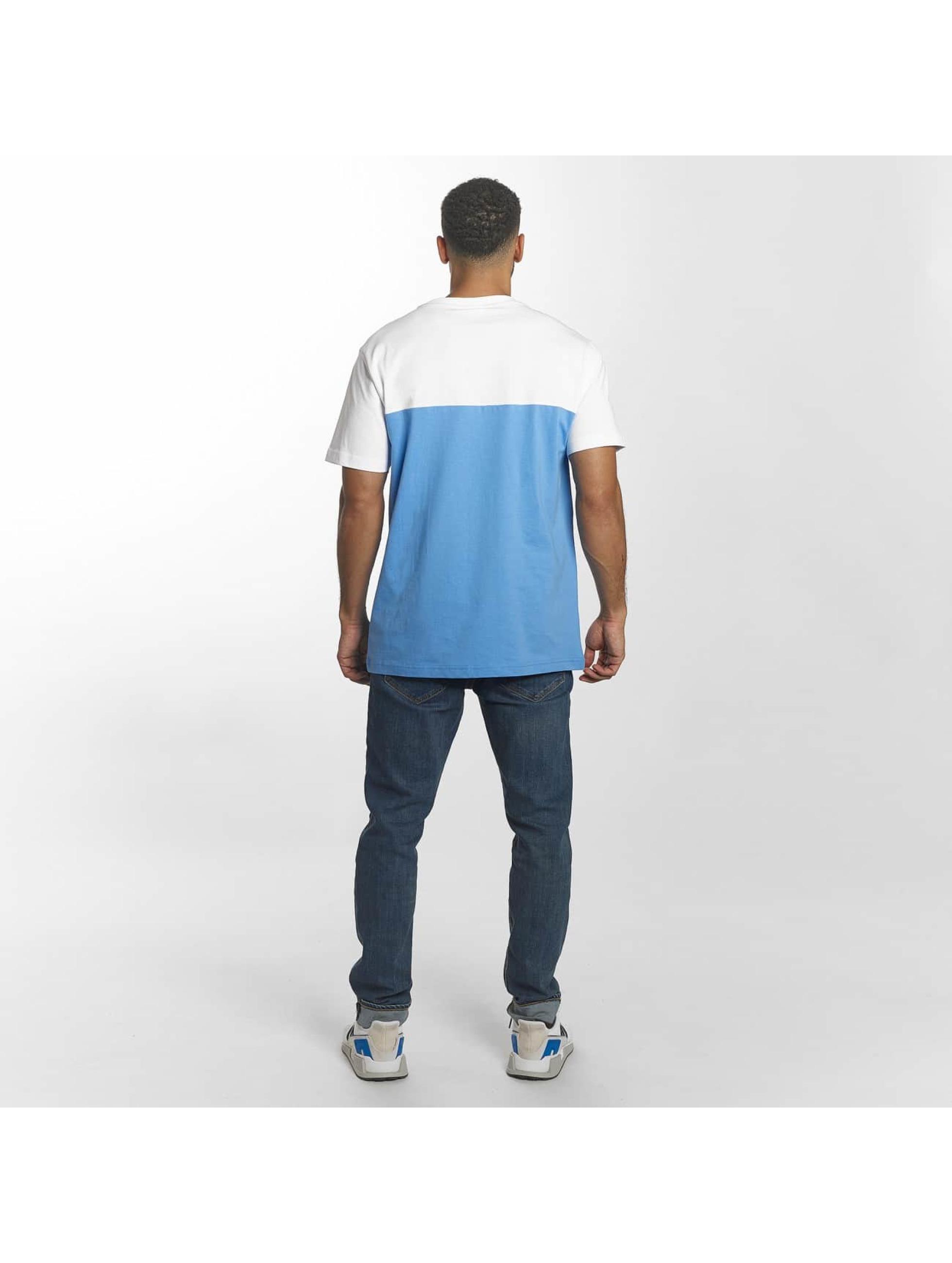 Urban Classics T-Shirty Color Block Summer Pocket niebieski