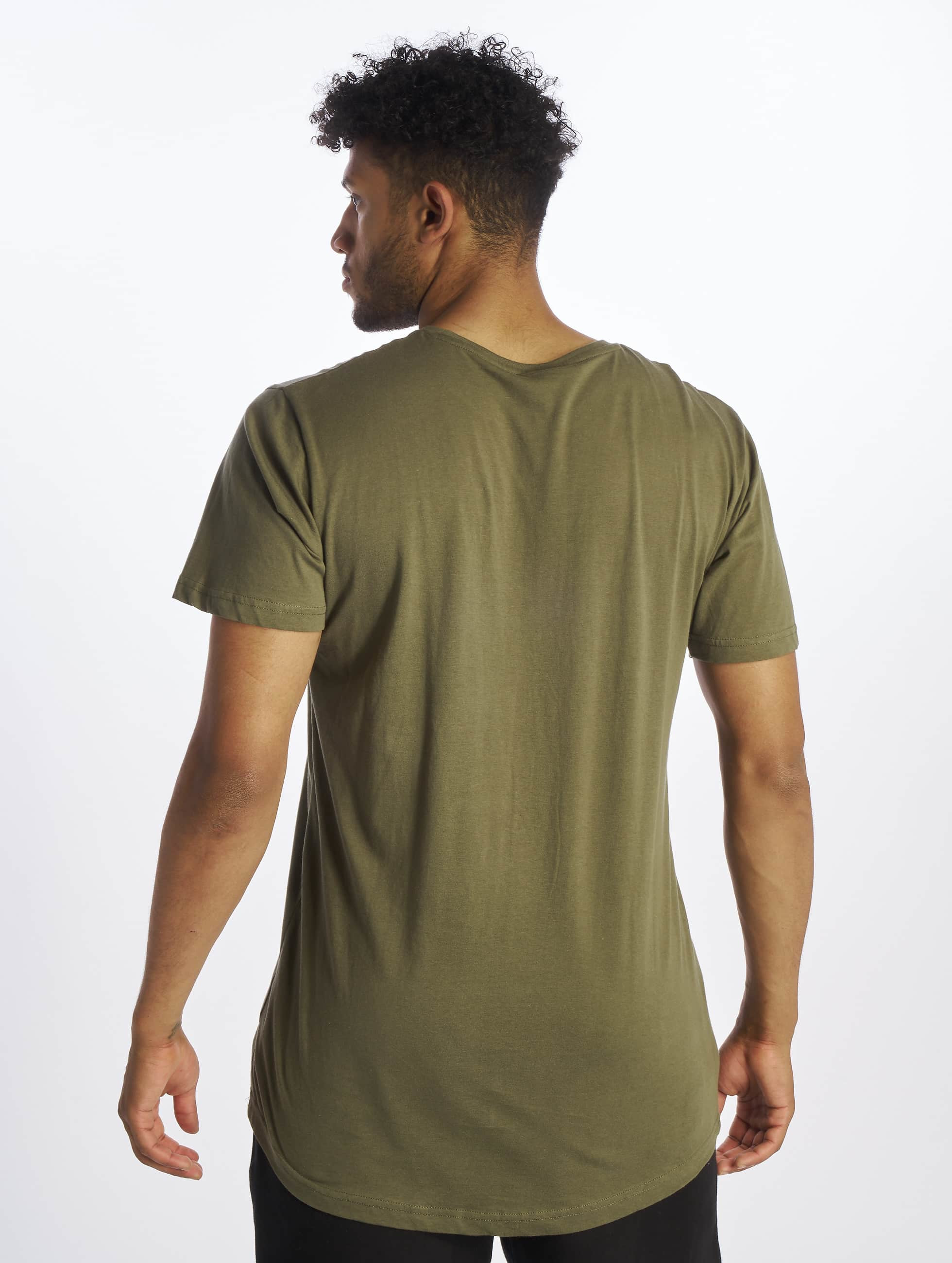 Urban Classics T-Shirty Shaped Long oliwkowy