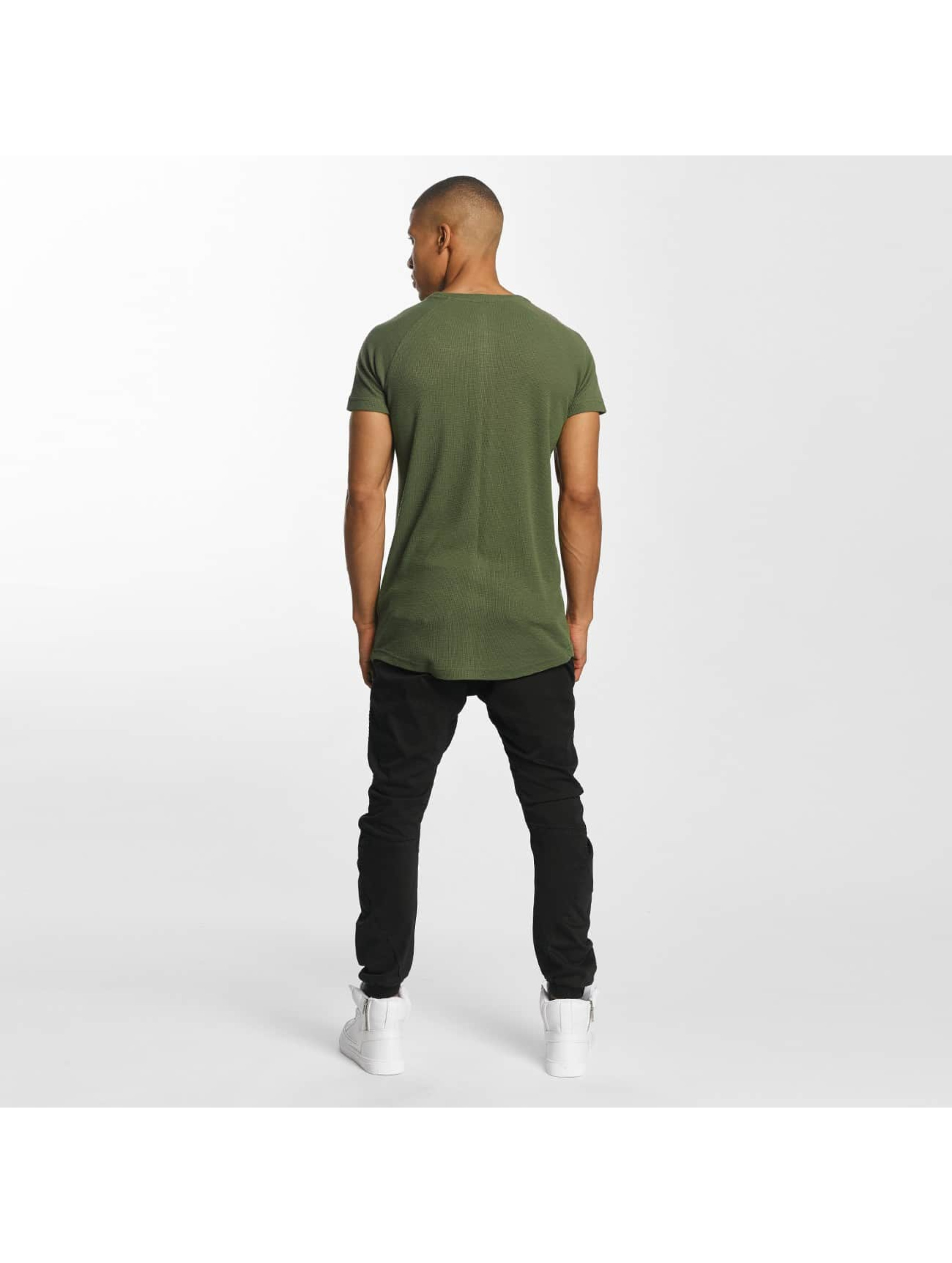 Urban Classics T-Shirty Thermal Slub oliwkowy