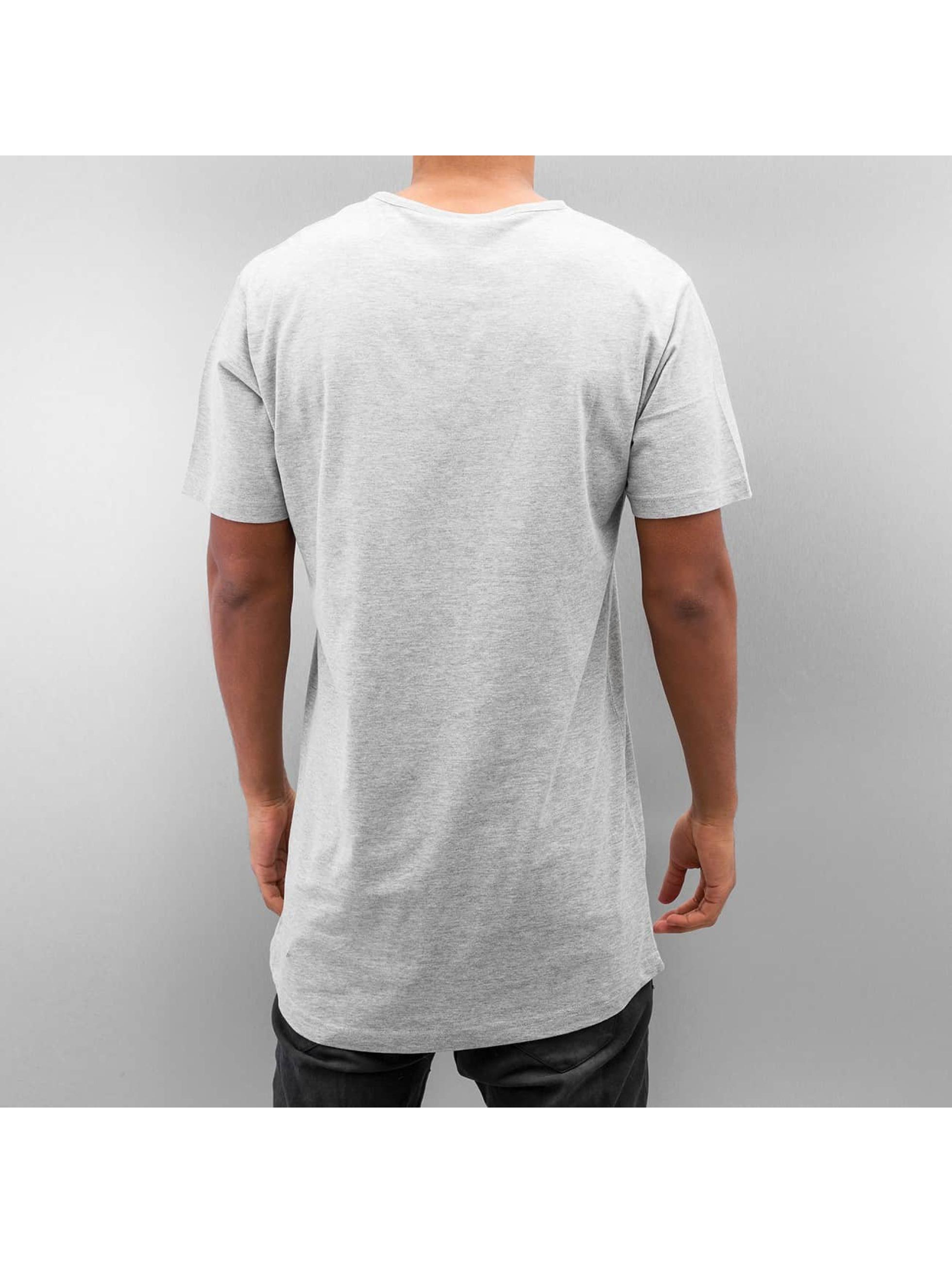 Urban Classics T-Shirty Peached Shaped Long szary