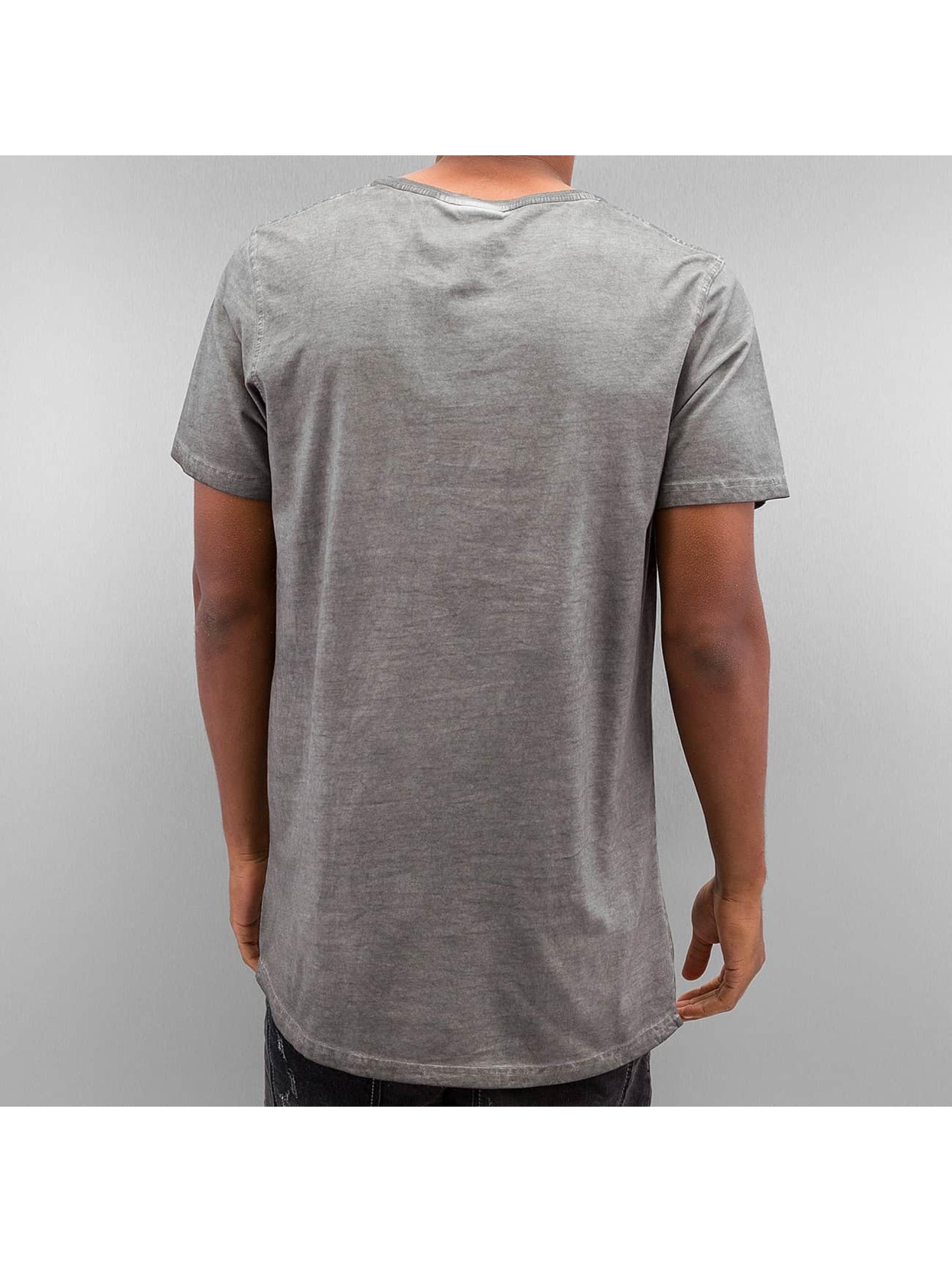 Urban Classics T-Shirty Shaped Long Cold Dye szary