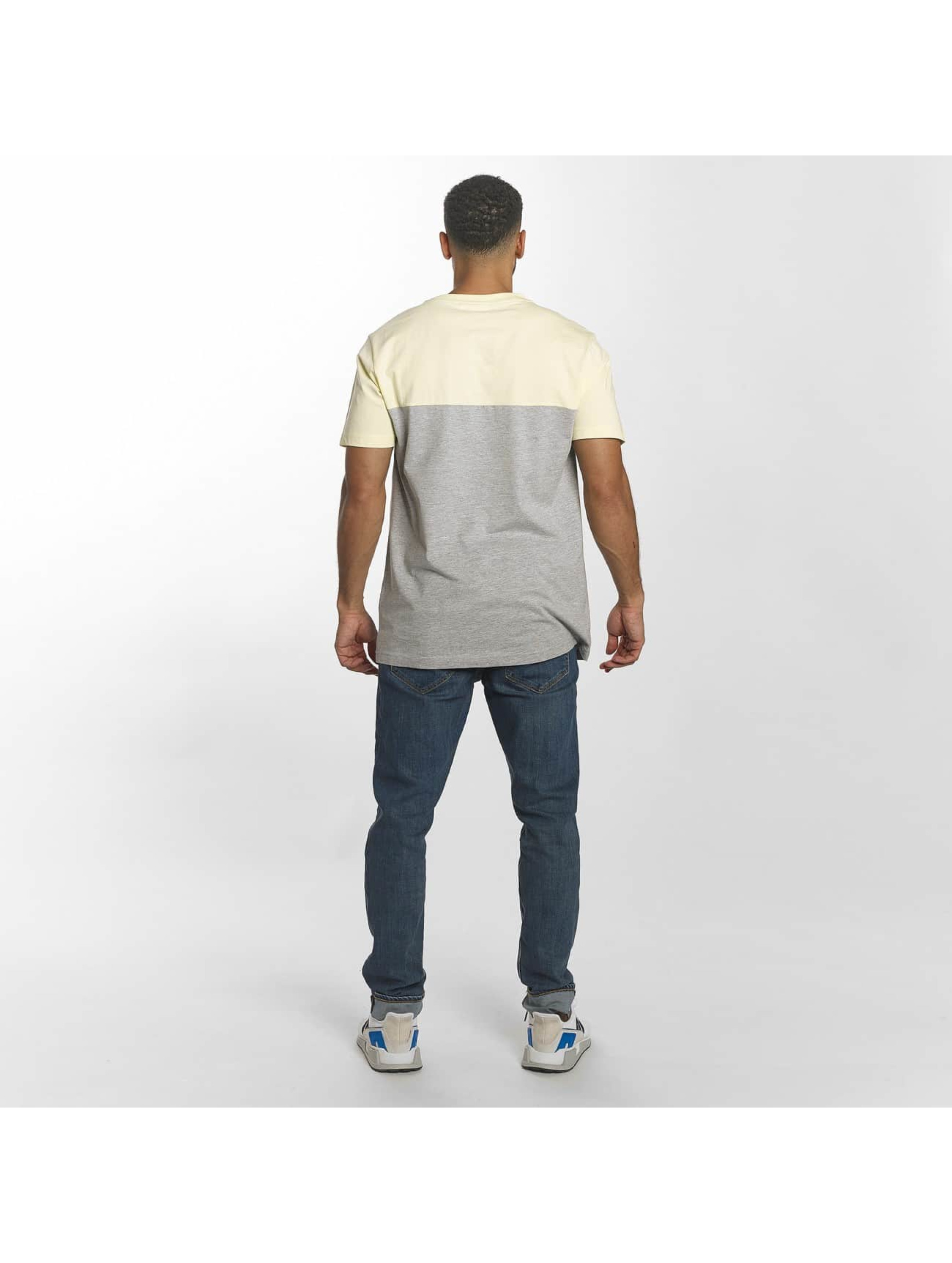 Urban Classics T-Shirty Color Block Summer Pocket szary