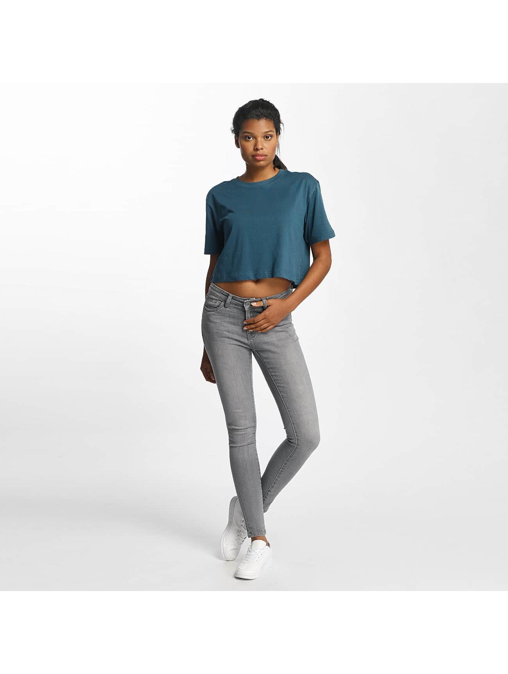 Urban Classics T-Shirty Ladies Oversized turkusowy