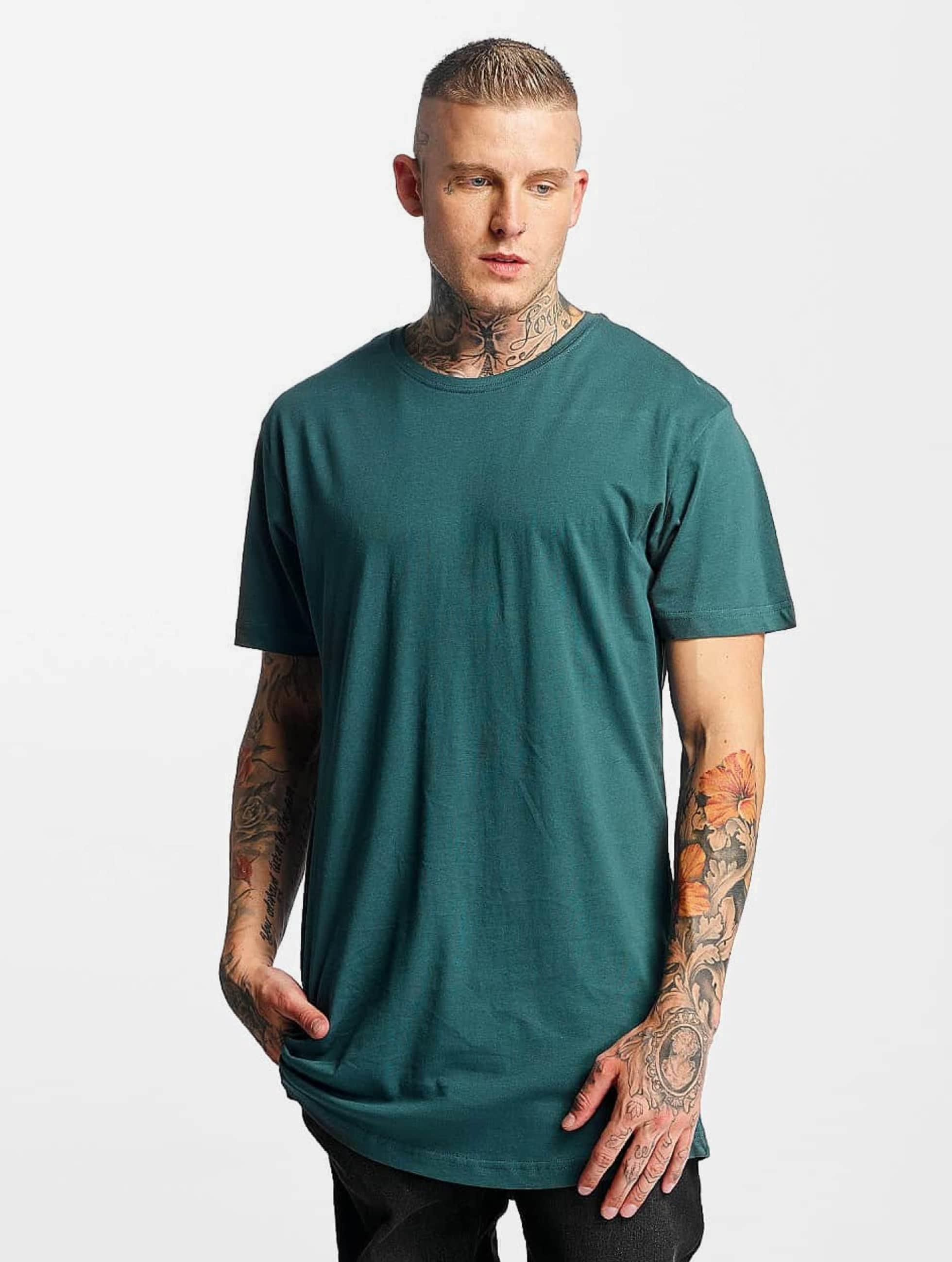 Urban Classics T-Shirty Shaped Long turkusowy