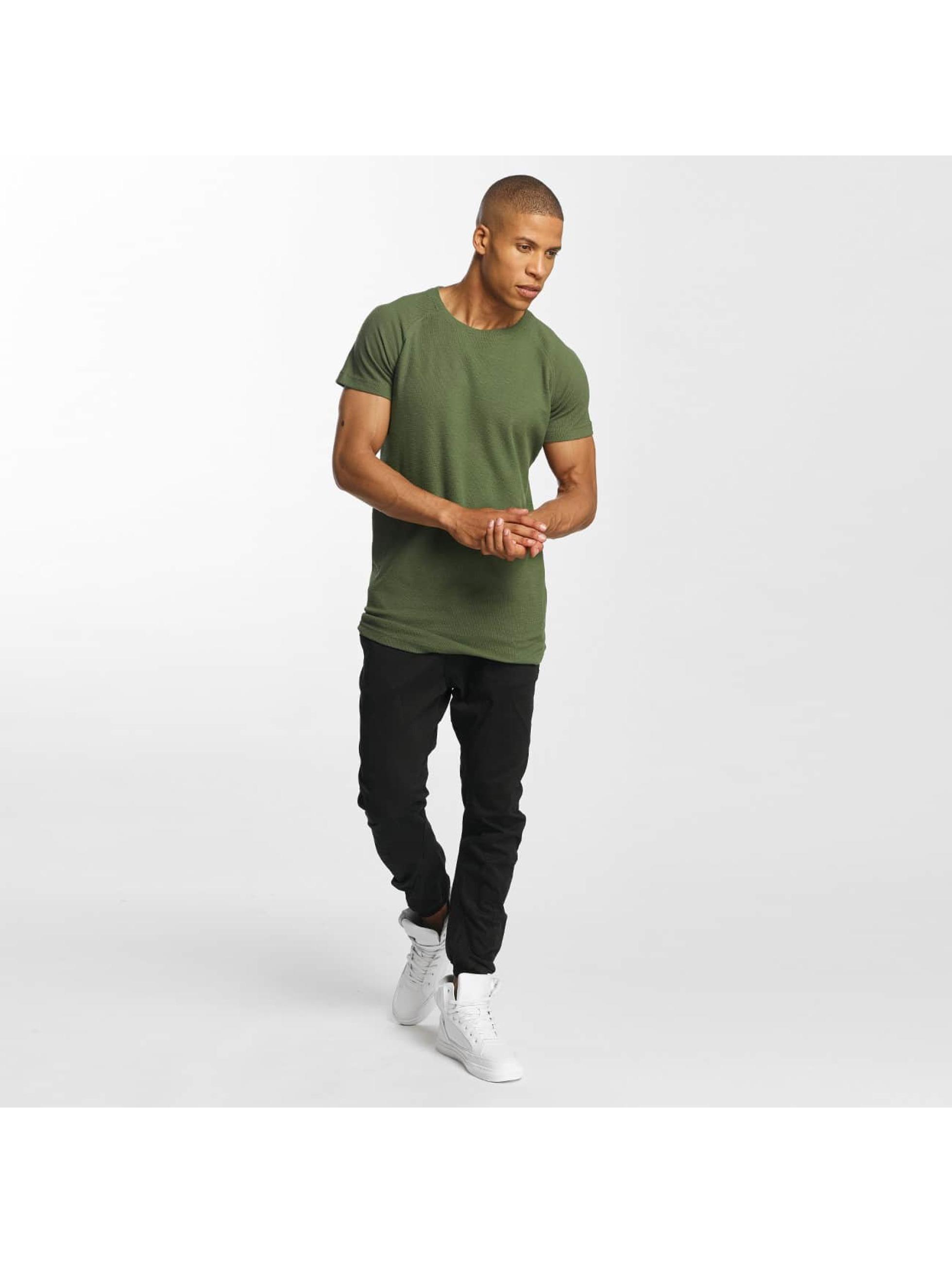 Urban Classics T-skjorter Thermal Slub oliven