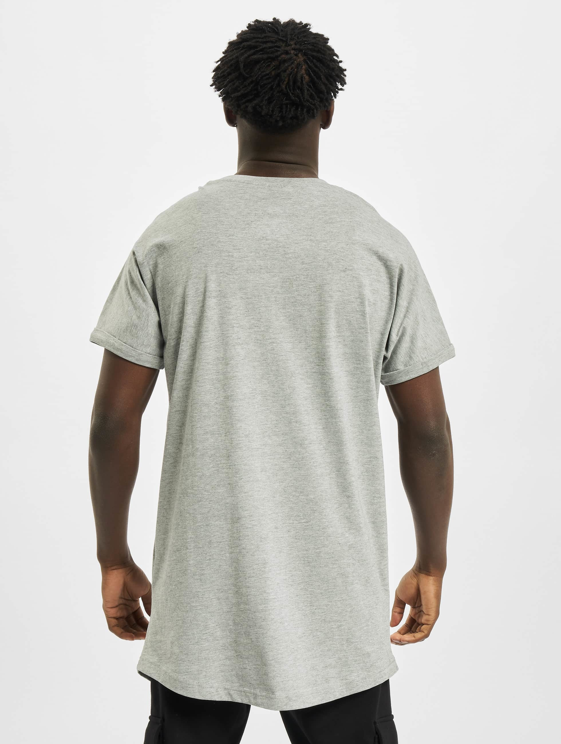 Urban Classics Tall Tee Long Shaped Turnup grå