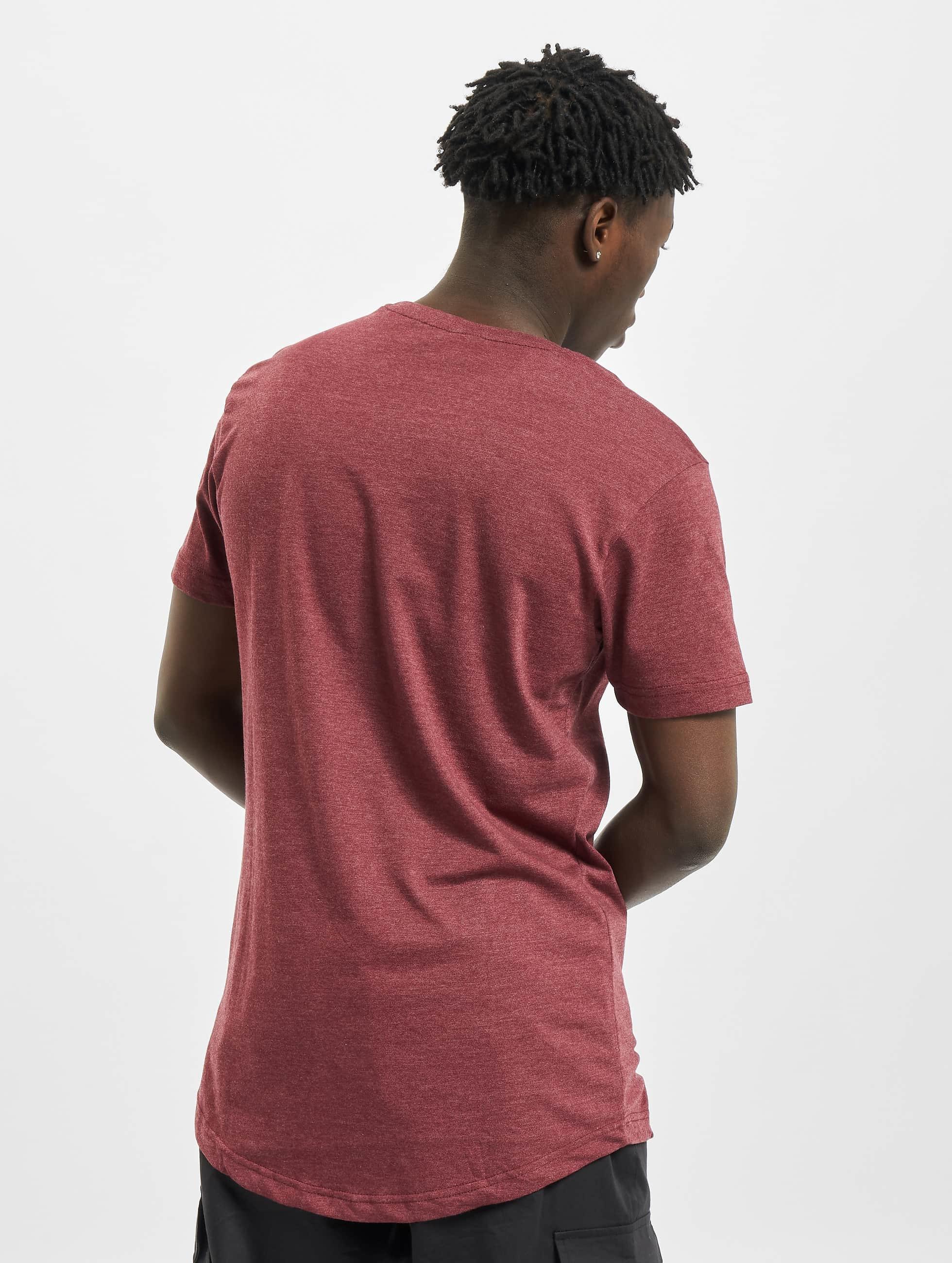 Urban Classics Tall Tees Shaped Melange Long červený