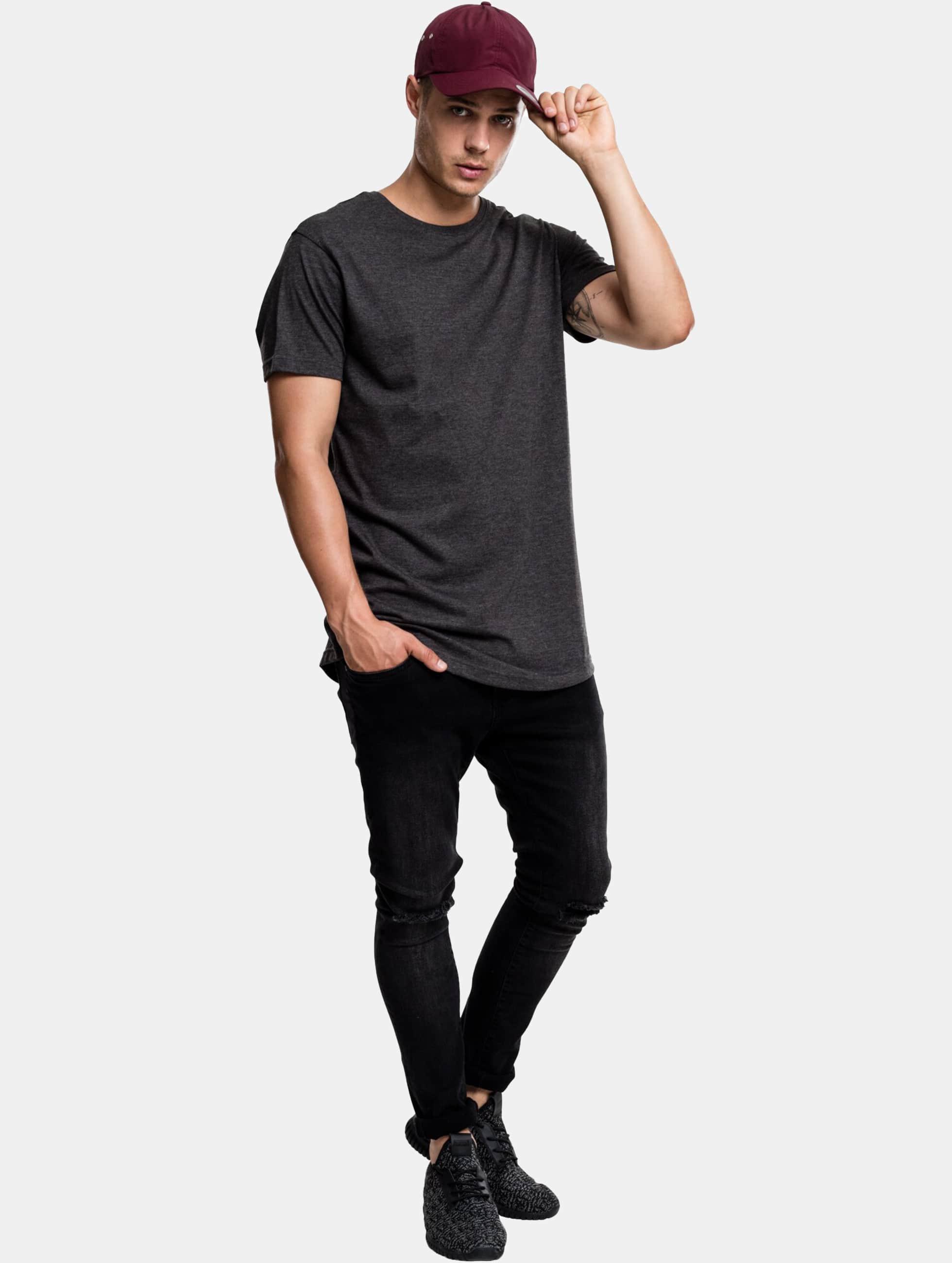 Urban Classics Tall Tees Shaped Melange Oversized Long šedá