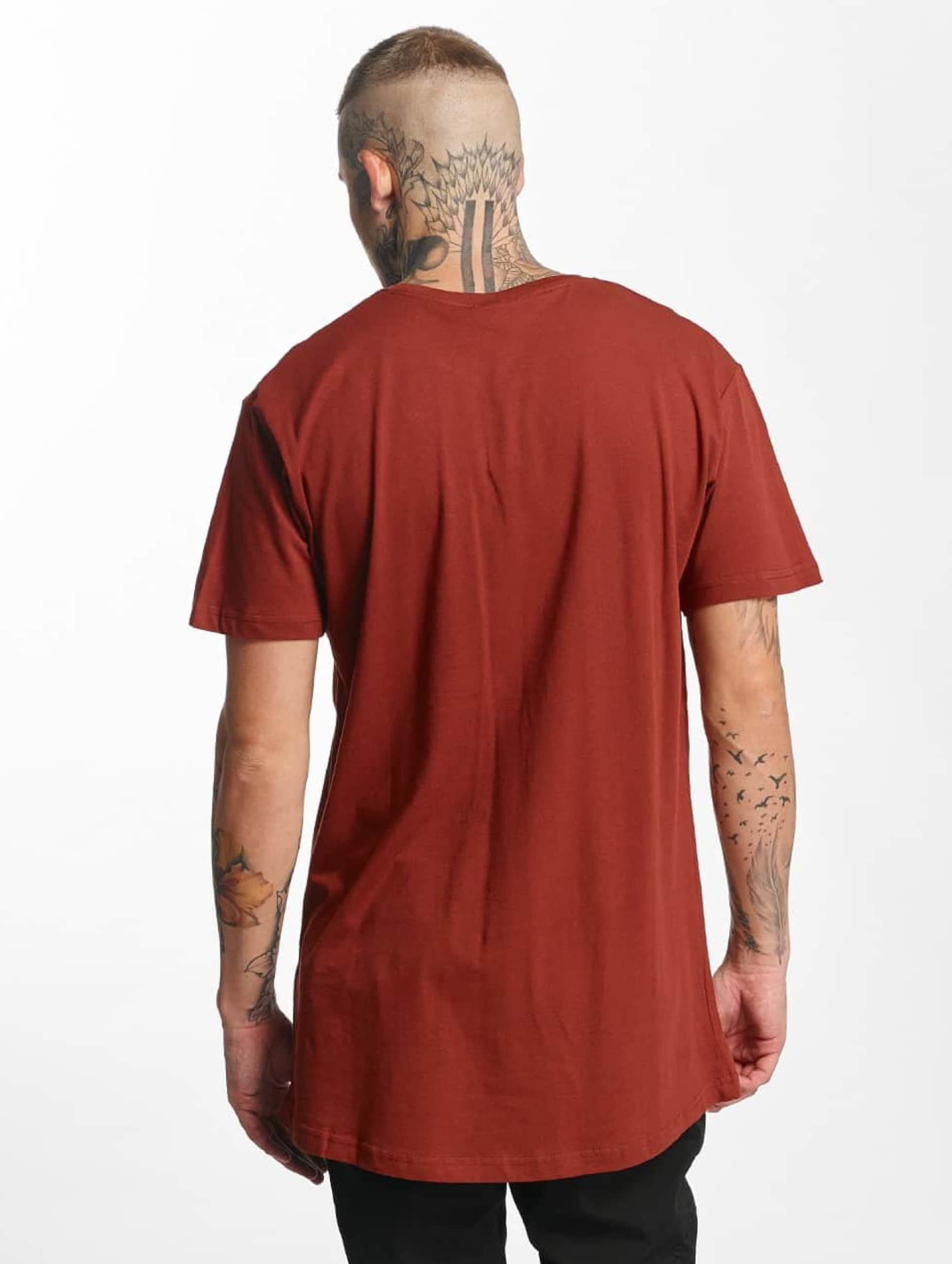 Urban Classics Tall Tees Shaped Oversized Long коричневый