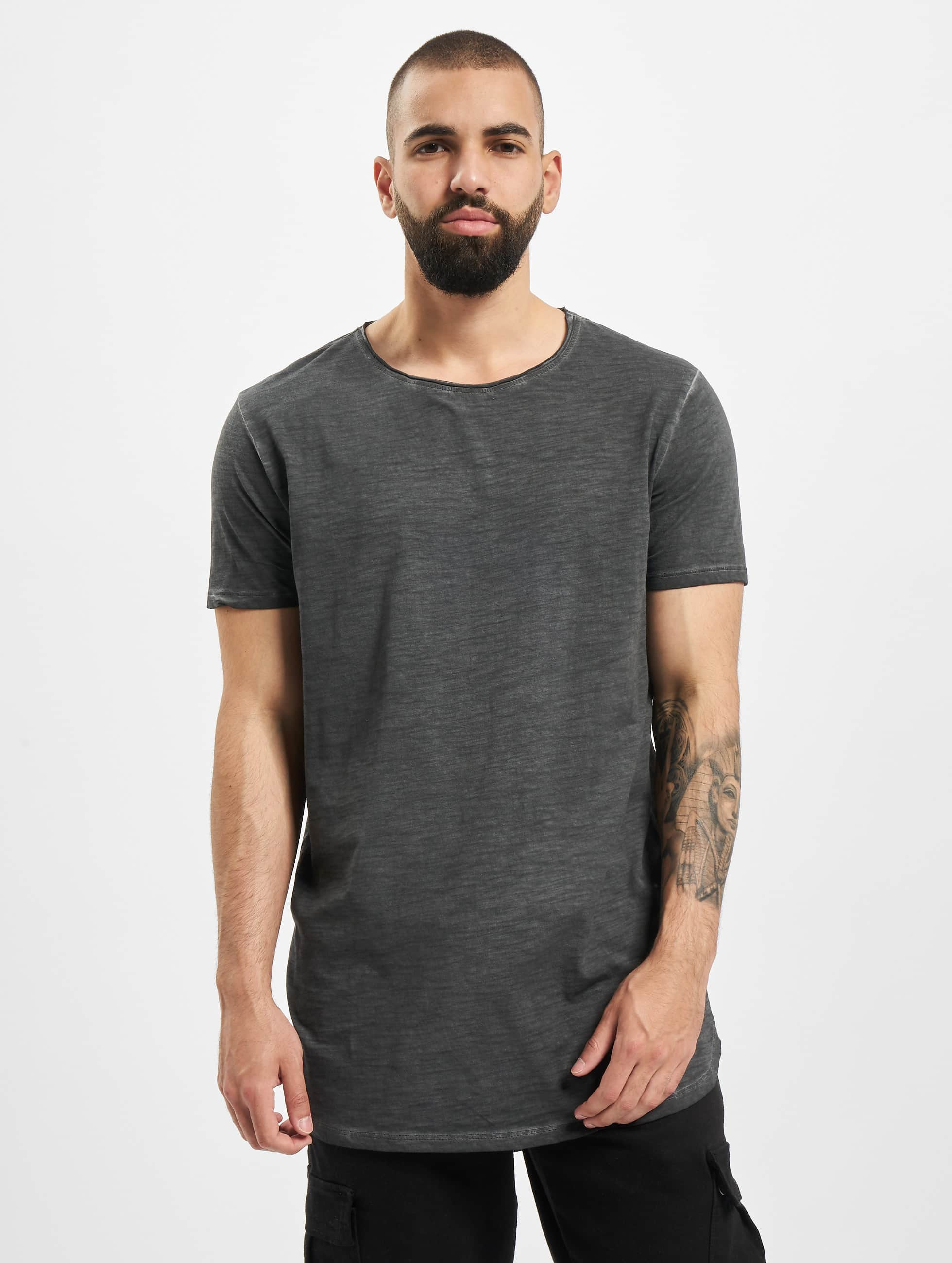 Urban Classics Tall Tees Long Back Shaped Spray Dye серый