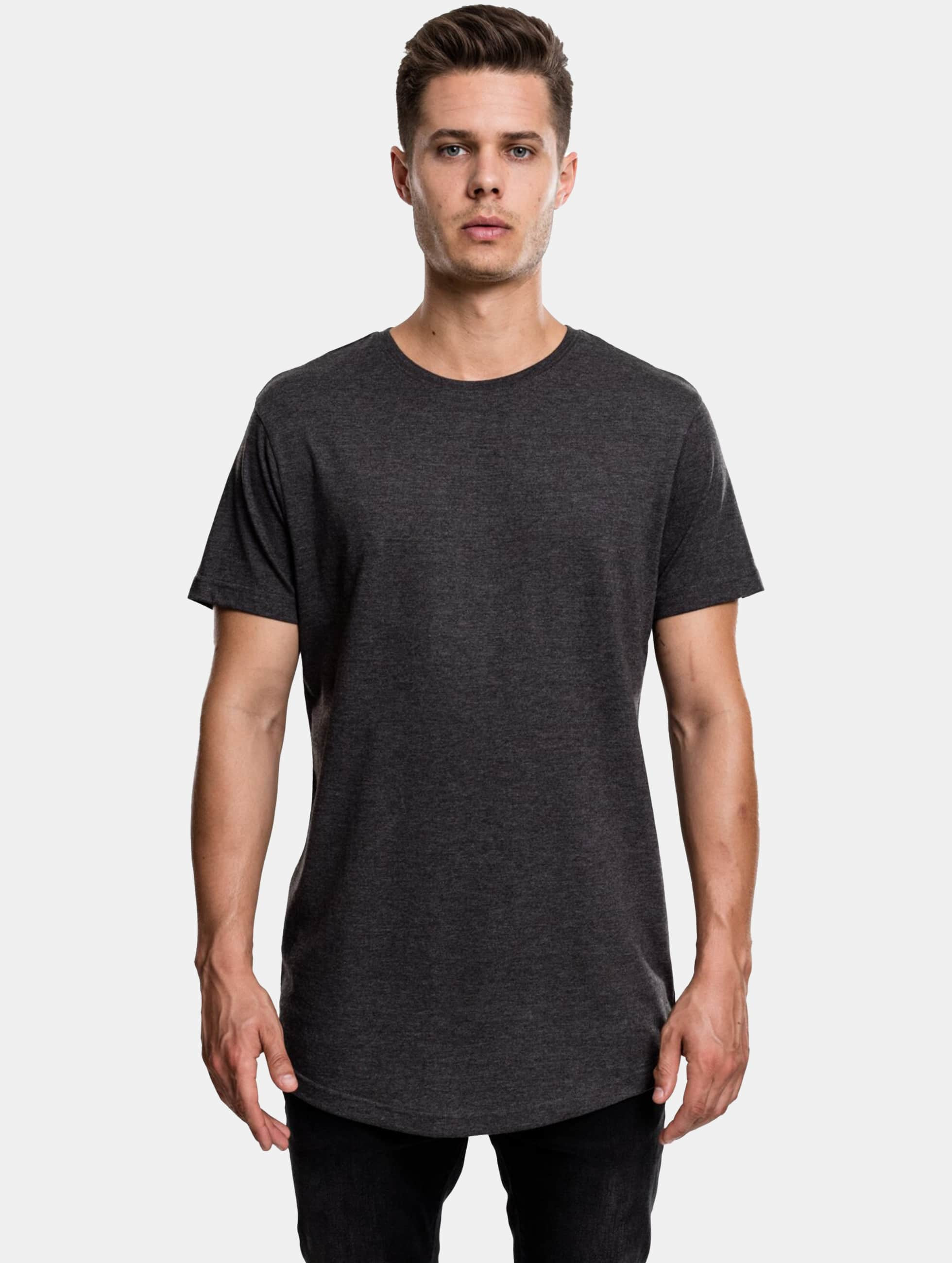 Urban Classics Tall Tees Shaped Melange Oversized Long серый