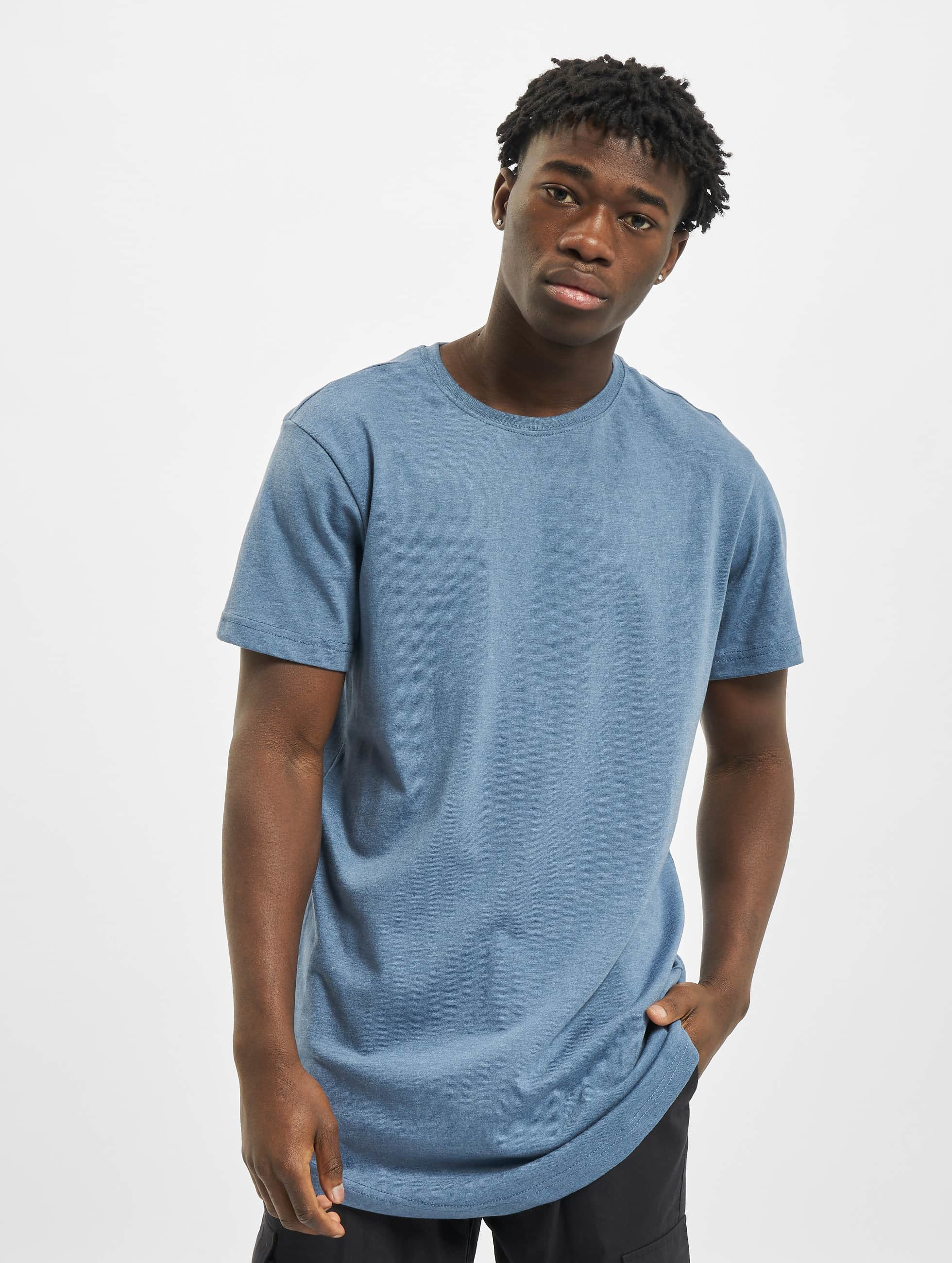 Urban Classics Tall Tees Shaped Melange Oversized Long blue
