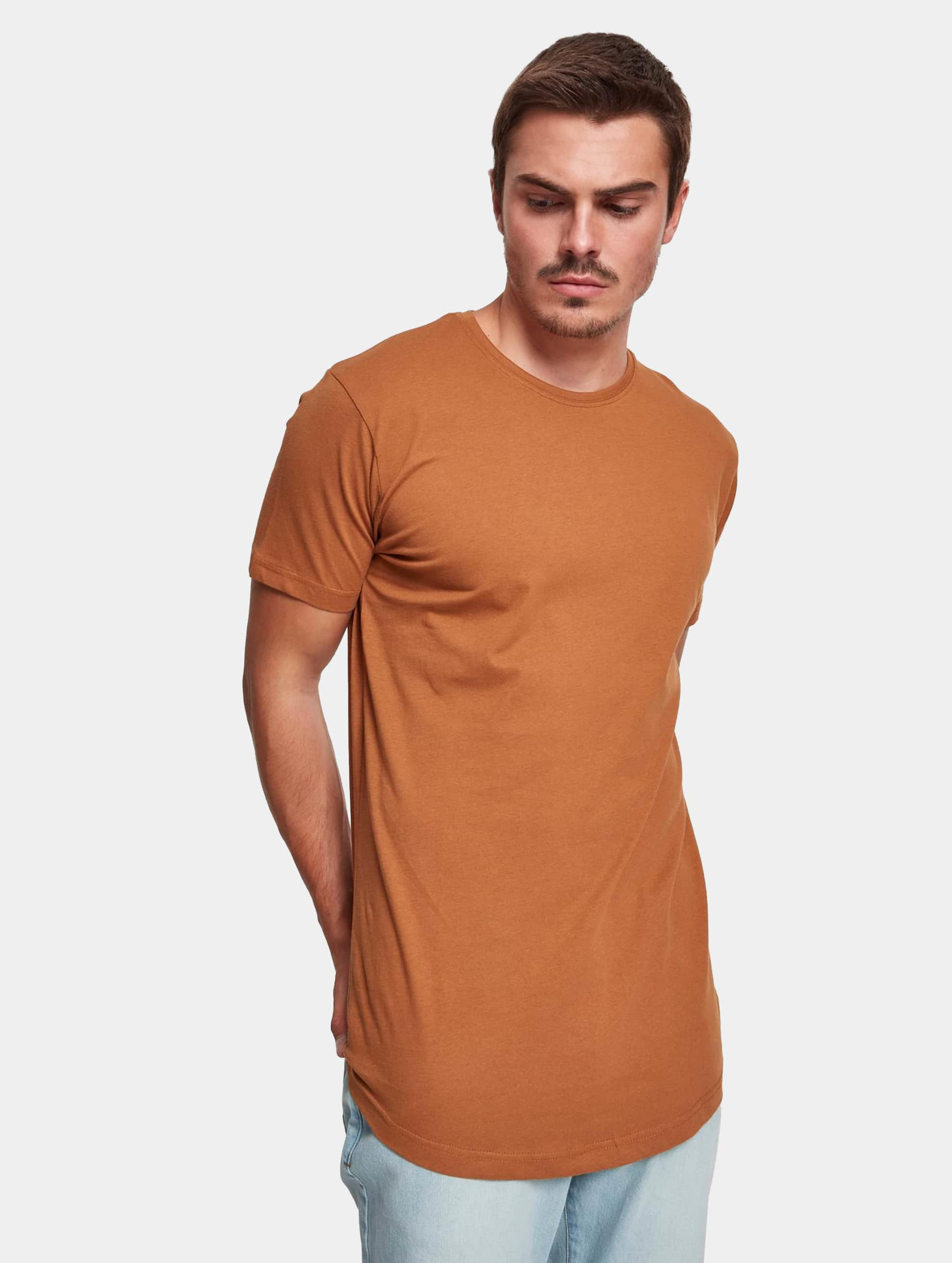 Tall Tees Shaped Long in braun