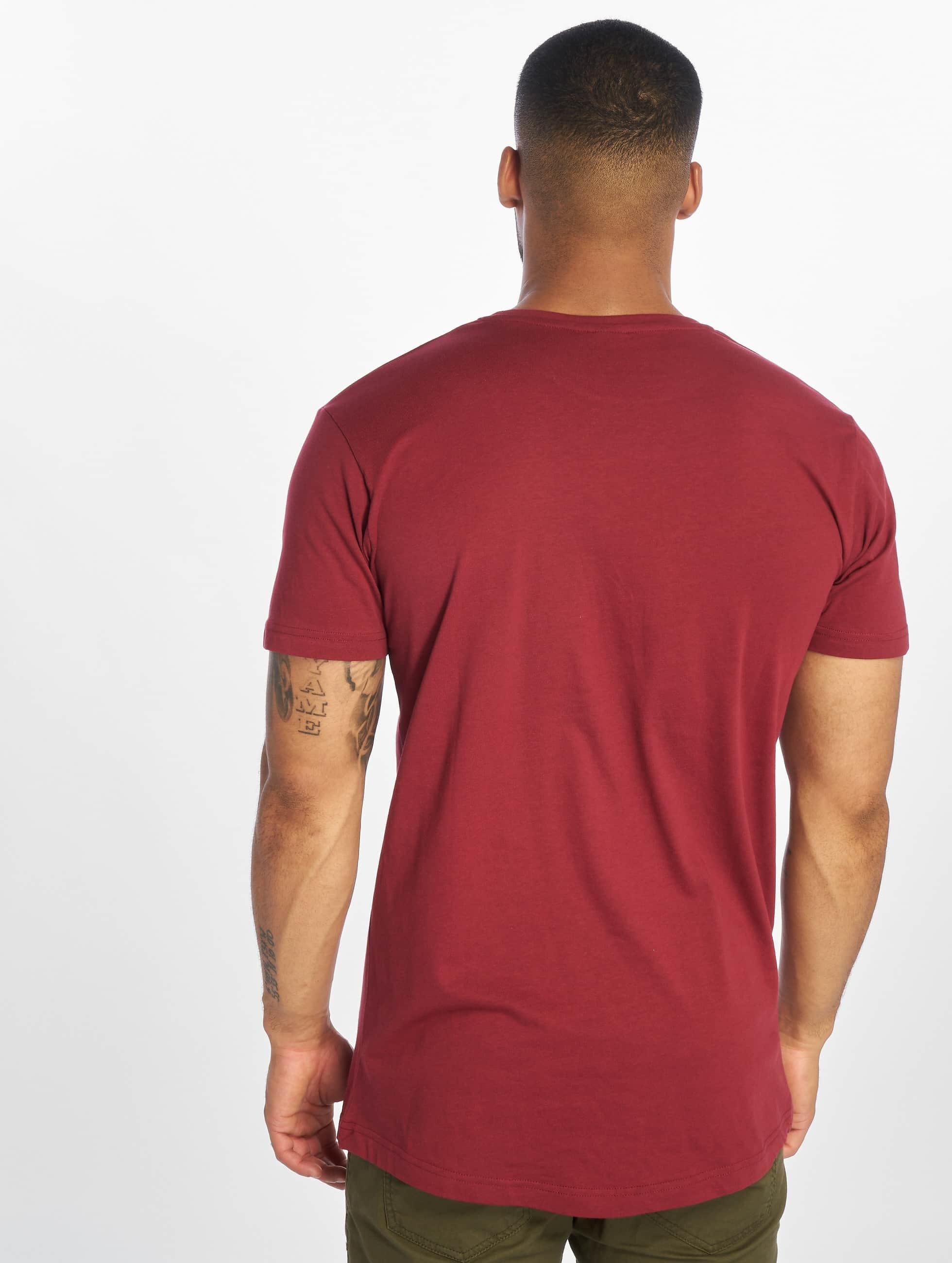 Urban Classics Tall Tees Shaped Long czerwony