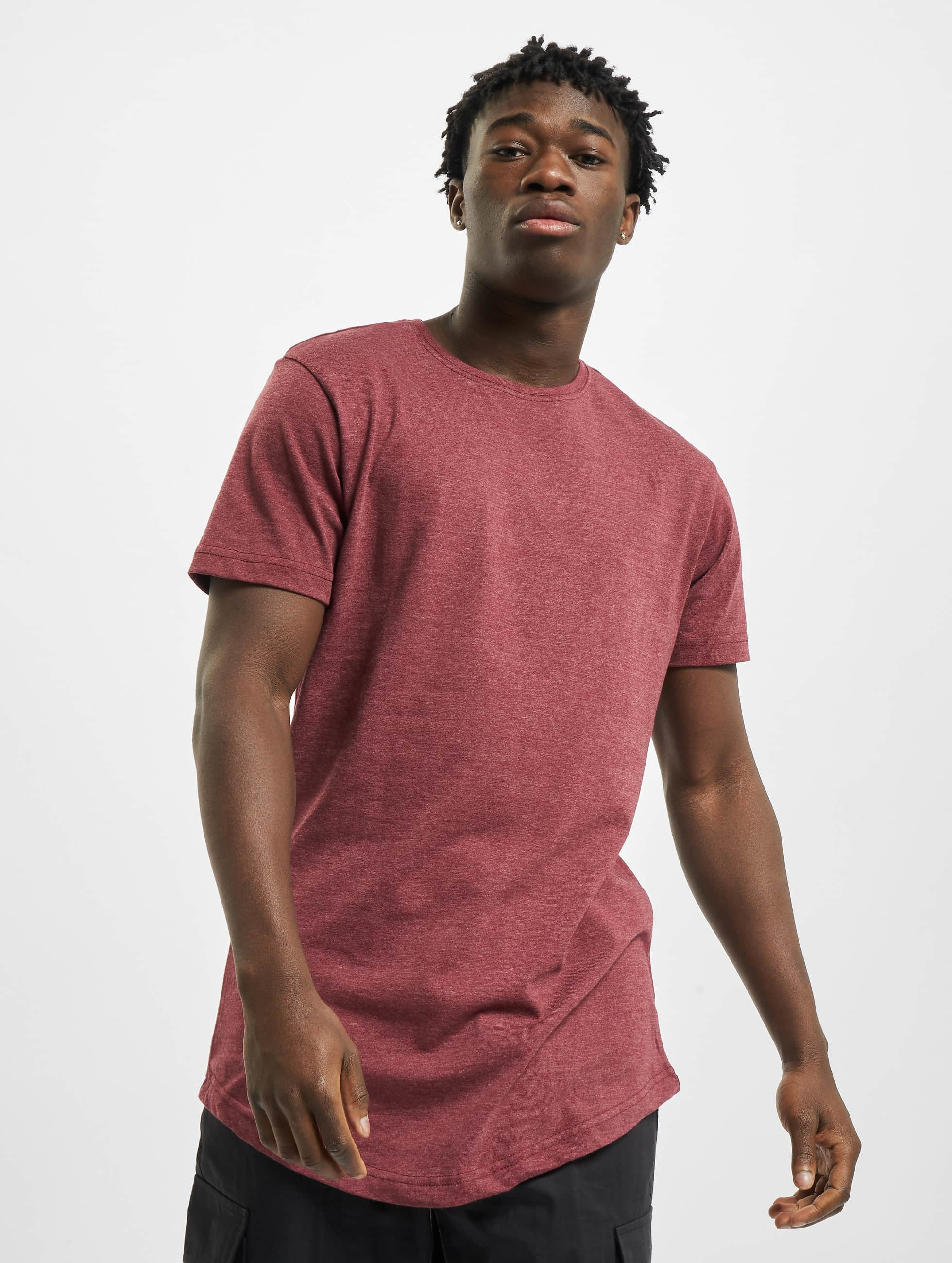 Urban Classics Tall Tees Shaped Melange Long czerwony