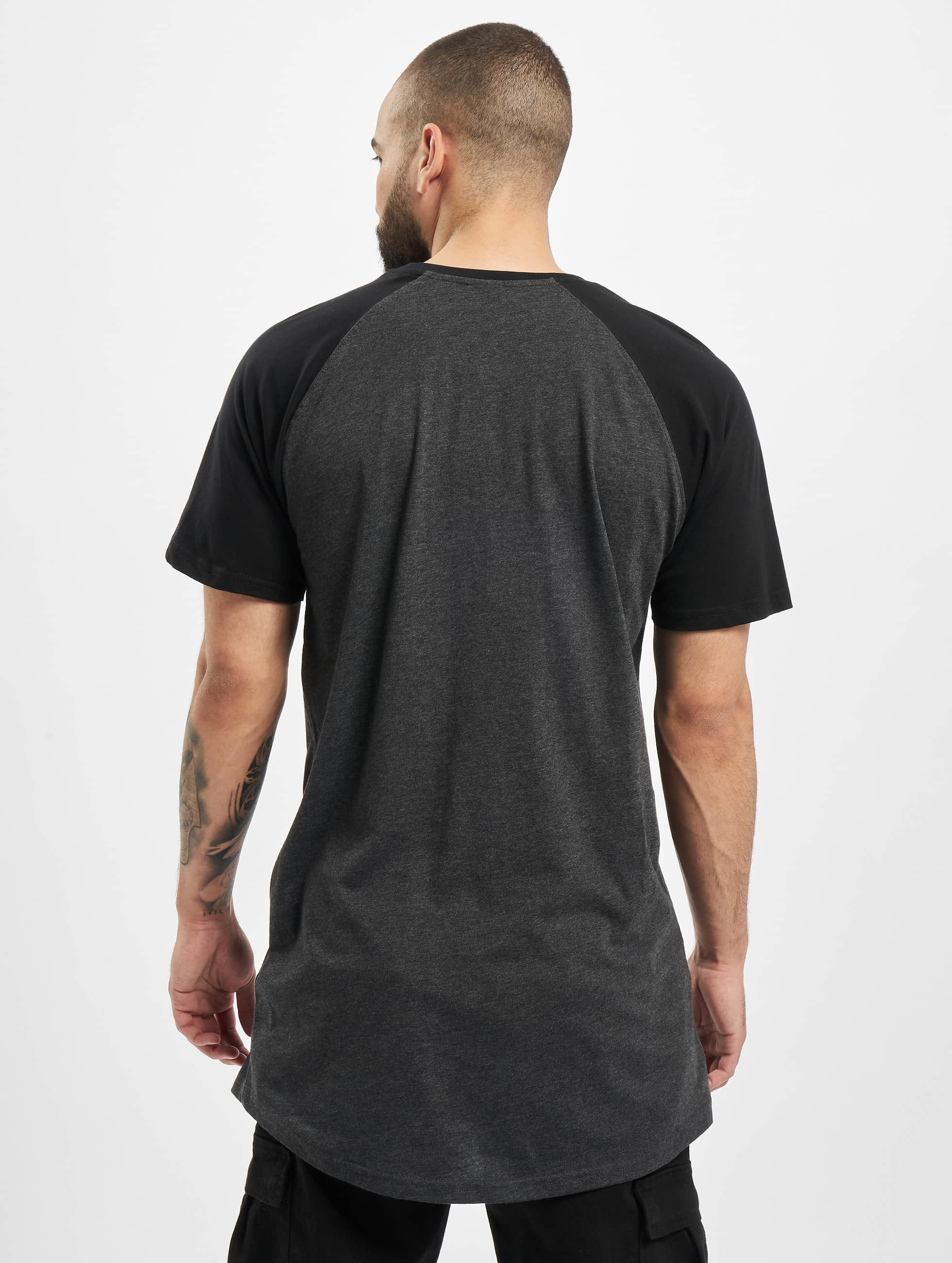 Urban Classics Tall Tees Shaped Raglan Long grau