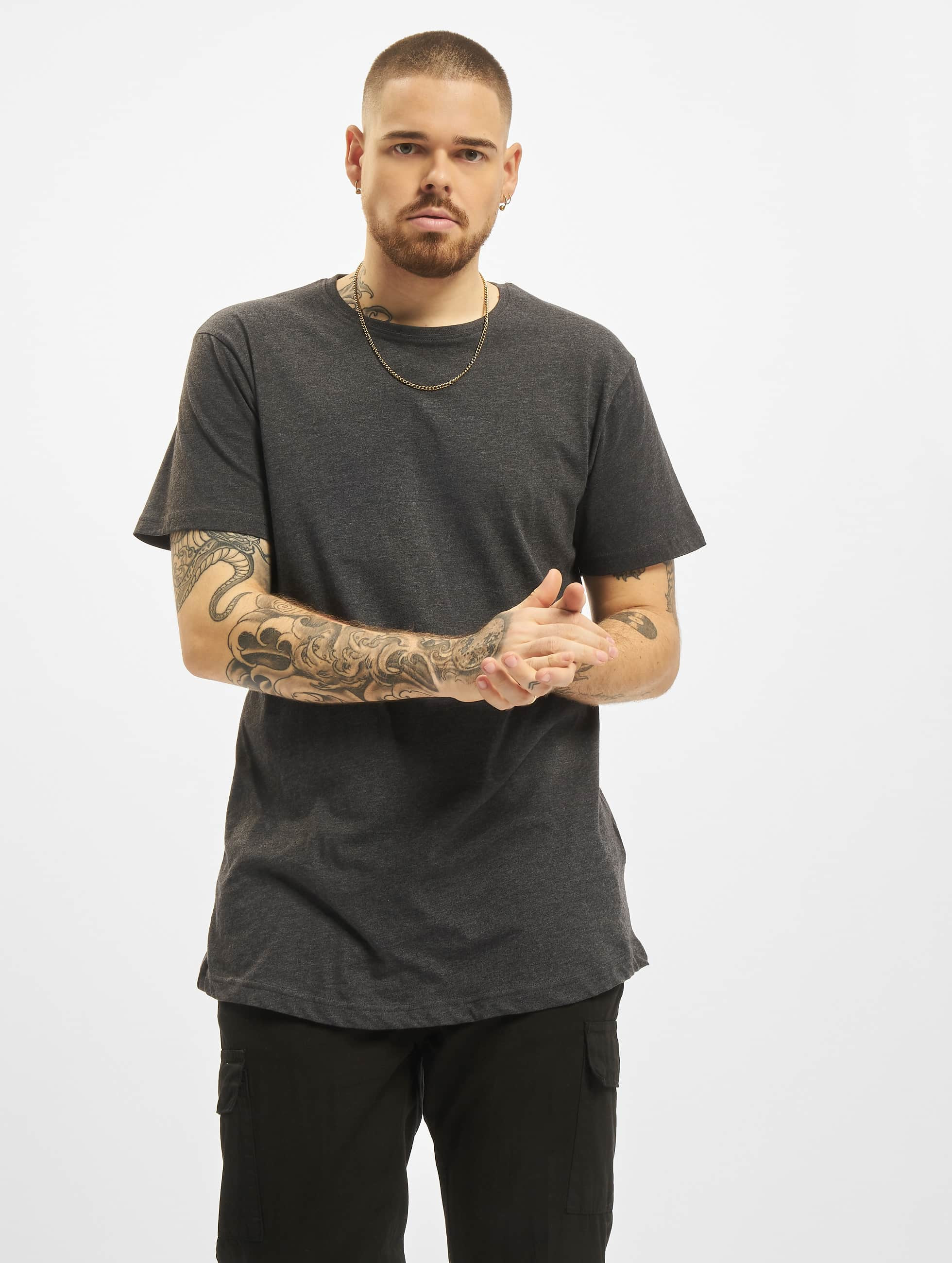 Tall Tees Shaped Long in grau