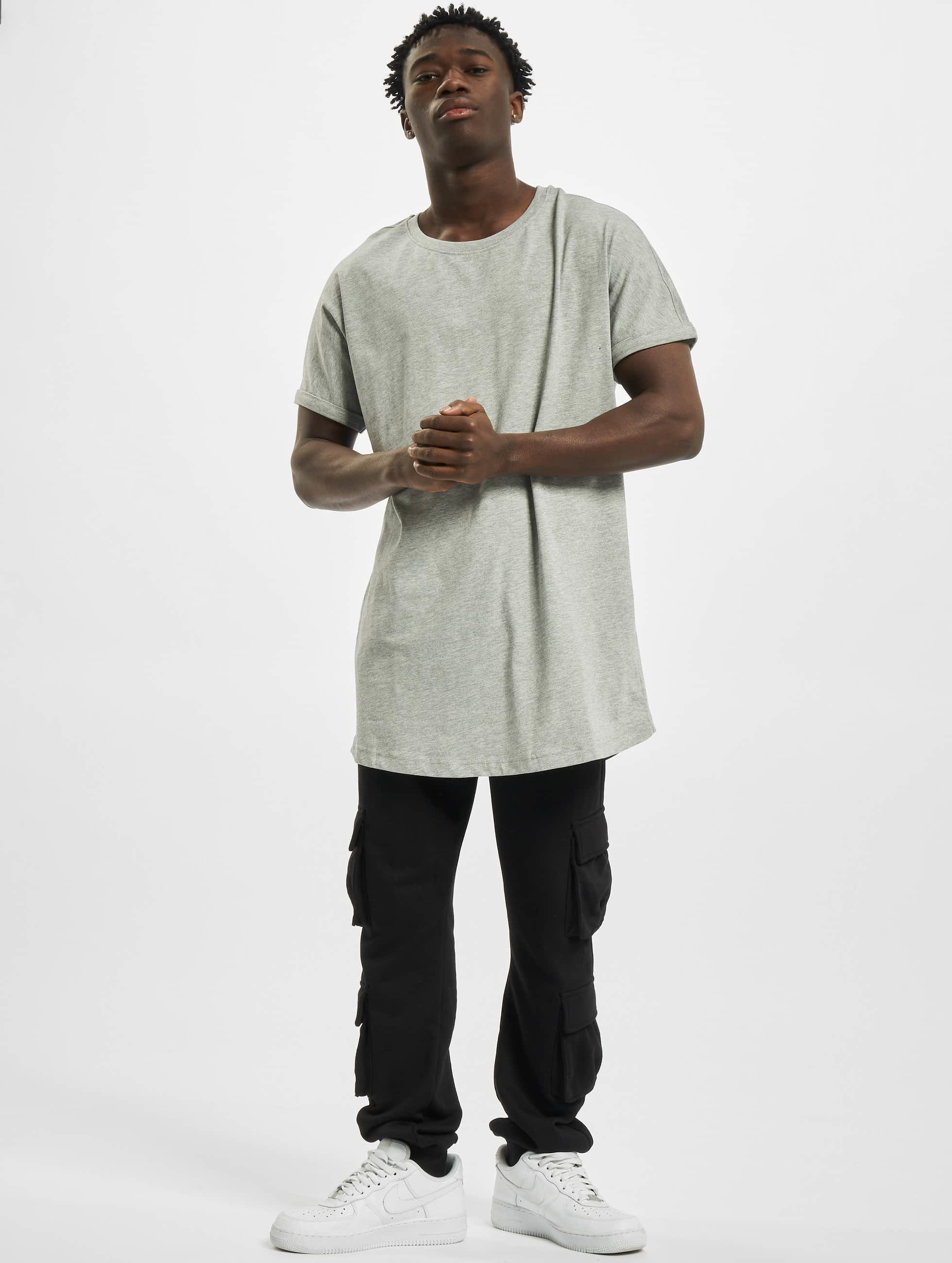 Urban Classics Tall Tees Long Shaped Turnup gray