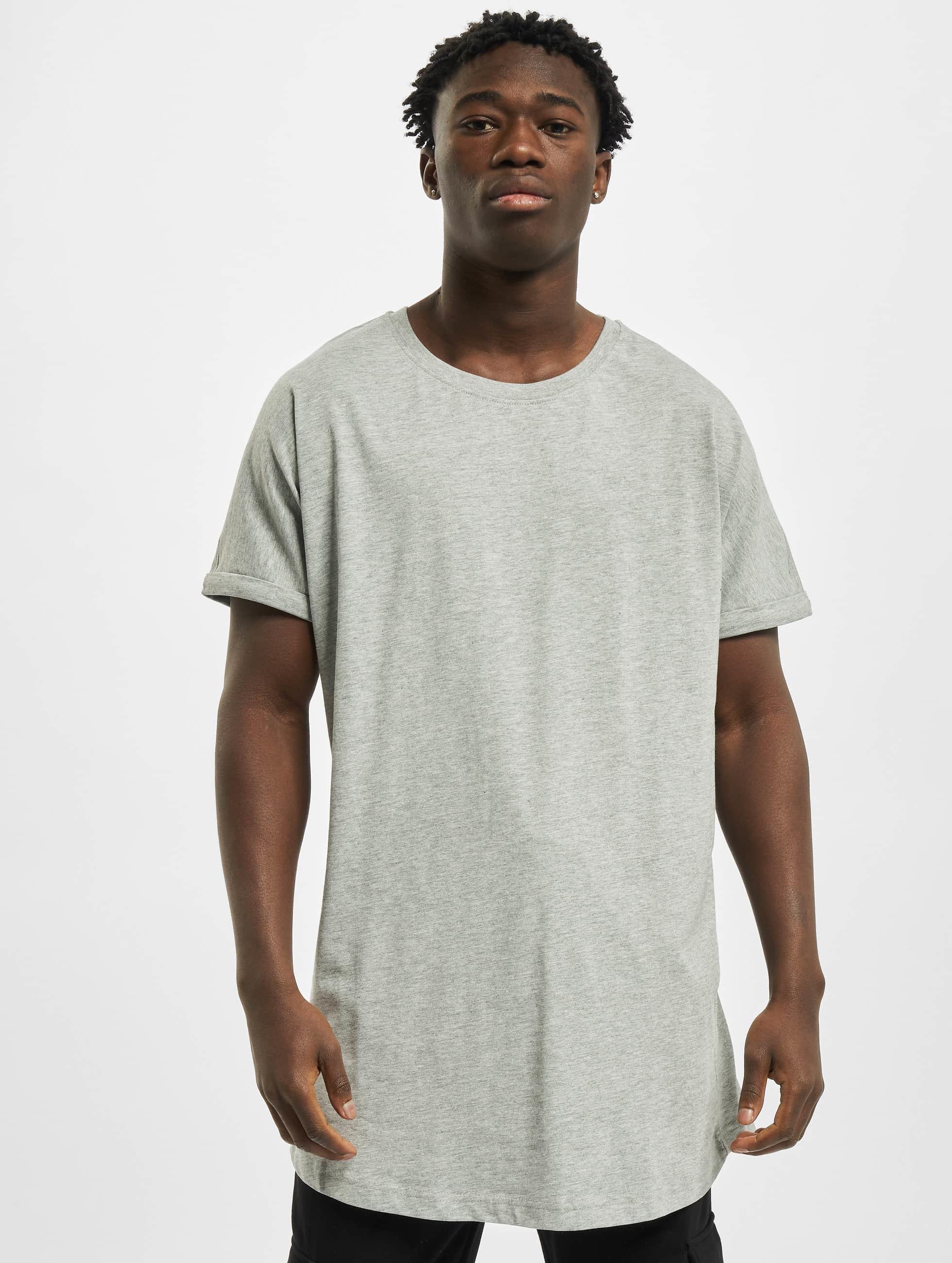 Urban Classics Tall Tees Long Shaped Turnup grey