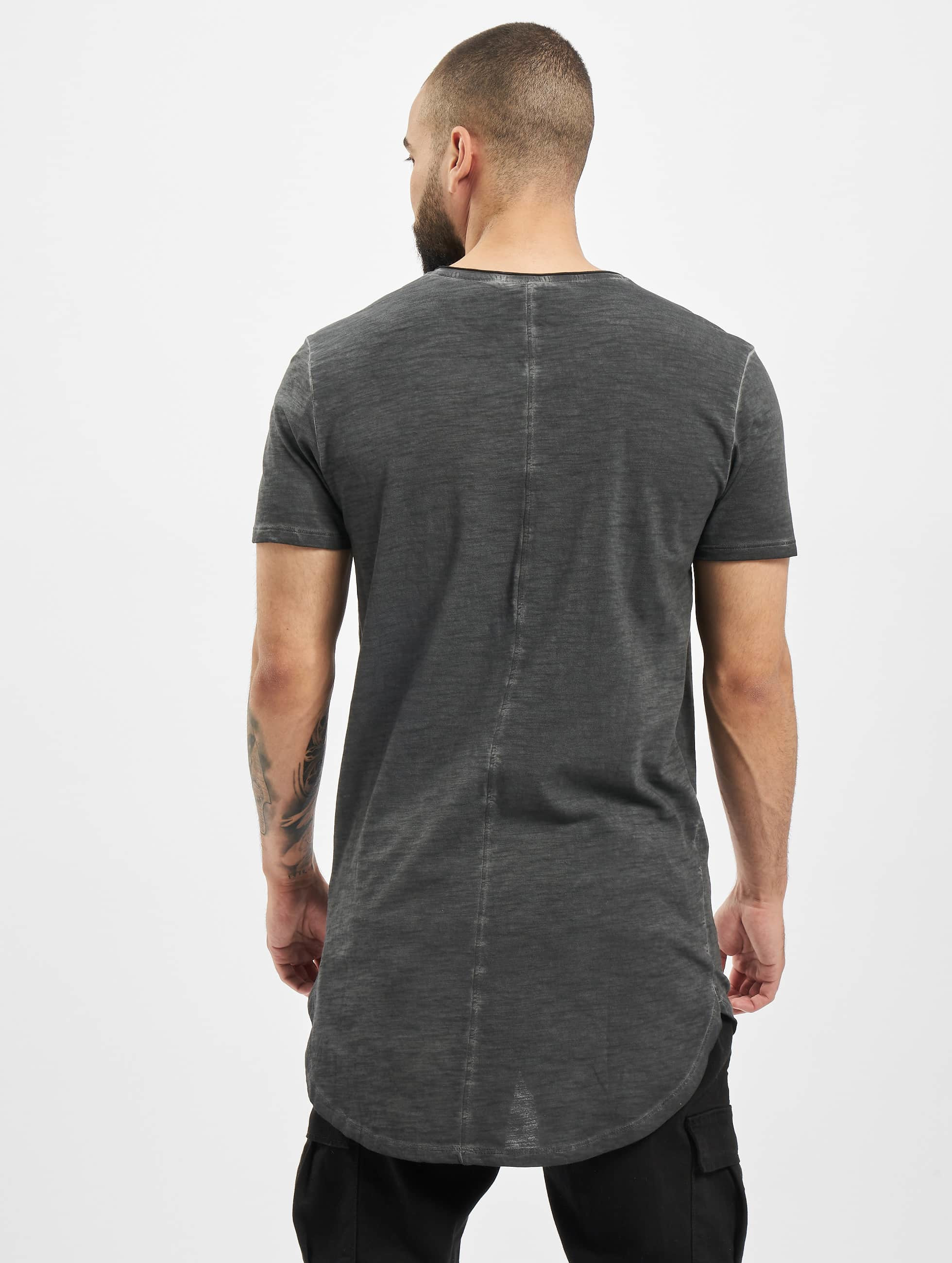 Urban Classics Tall Tees Long Back Shaped Spray Dye grigio