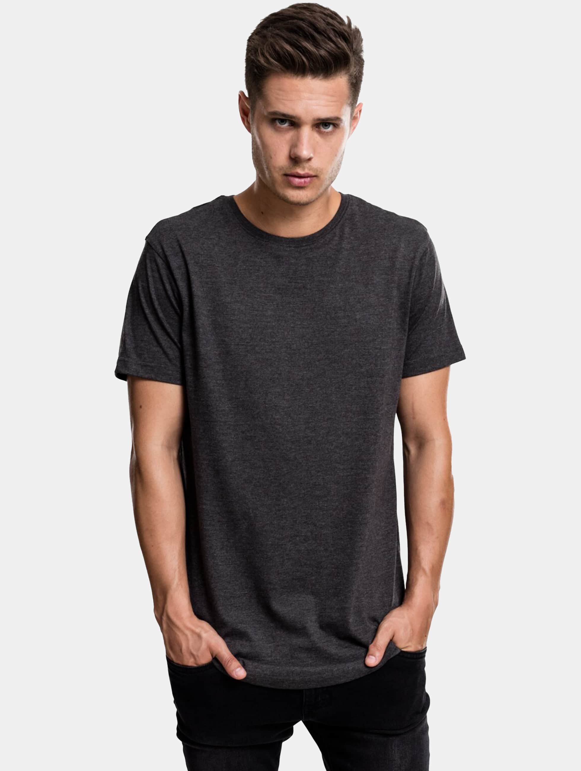 Urban Classics Tall Tees Shaped Melange Oversized Long grijs