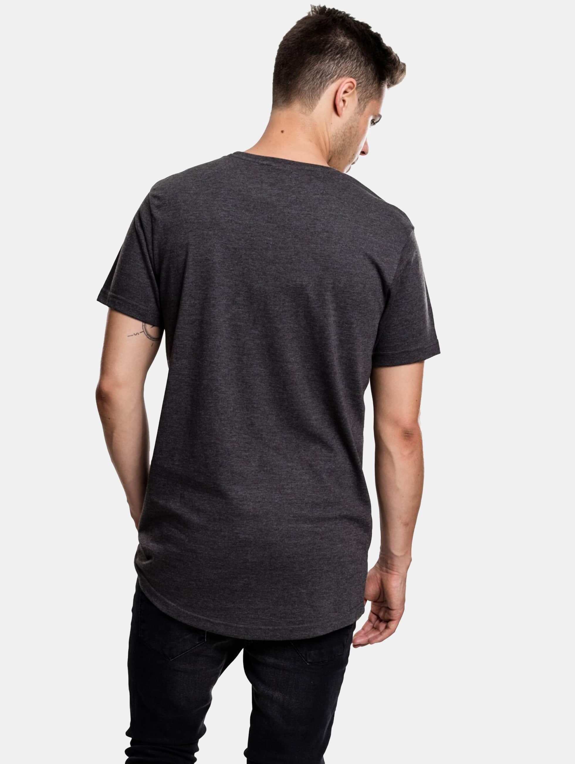 Urban Classics Tall Tees Shaped Melange Oversized Long gris