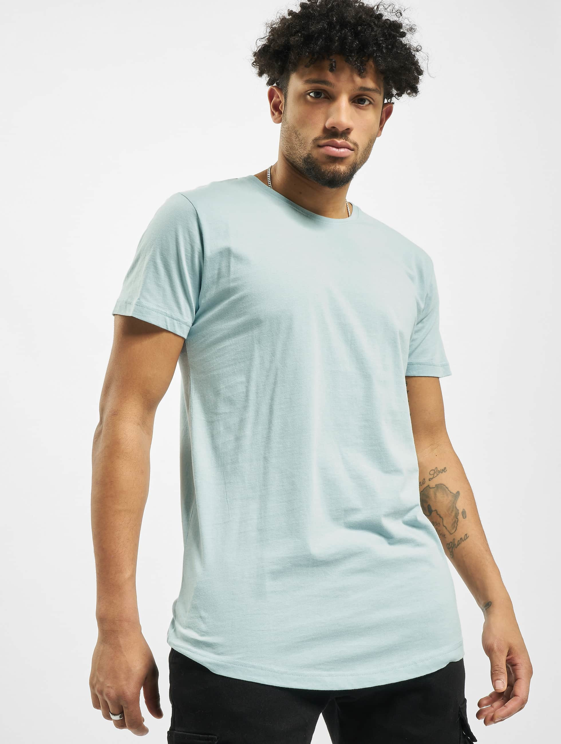 Urban Classics Tall Tees Shaped Long modrá
