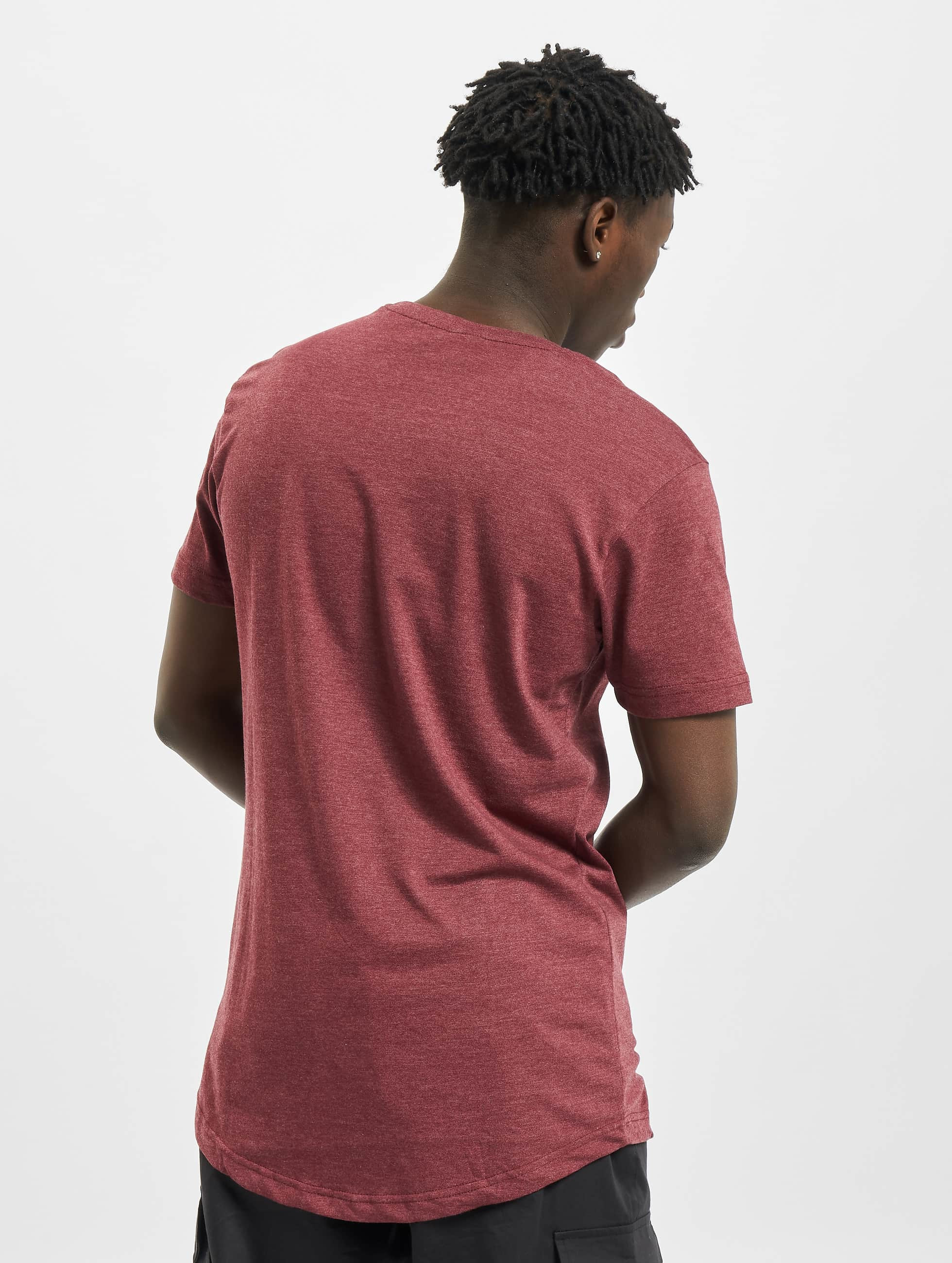 Urban Classics Tall Tees Shaped Melange Long red