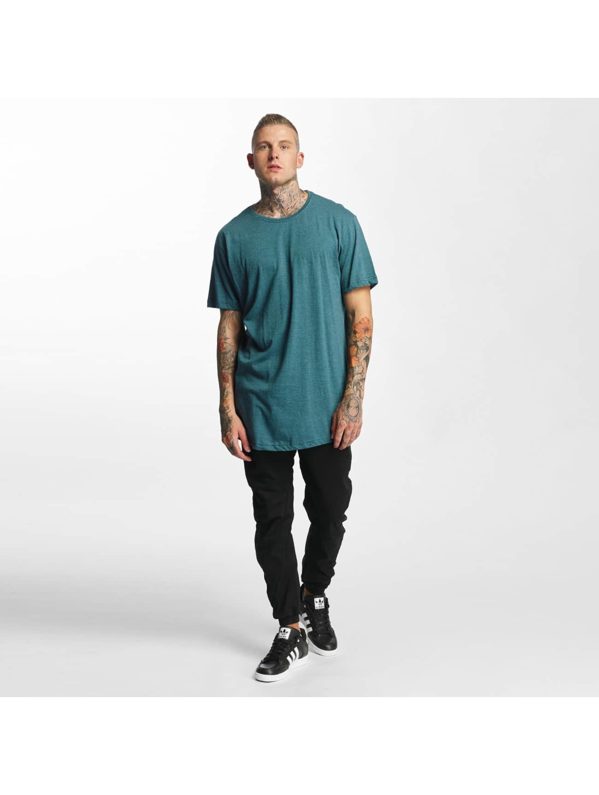 Urban Classics Tall Tees Shaped Melange Oversized Long turquoise