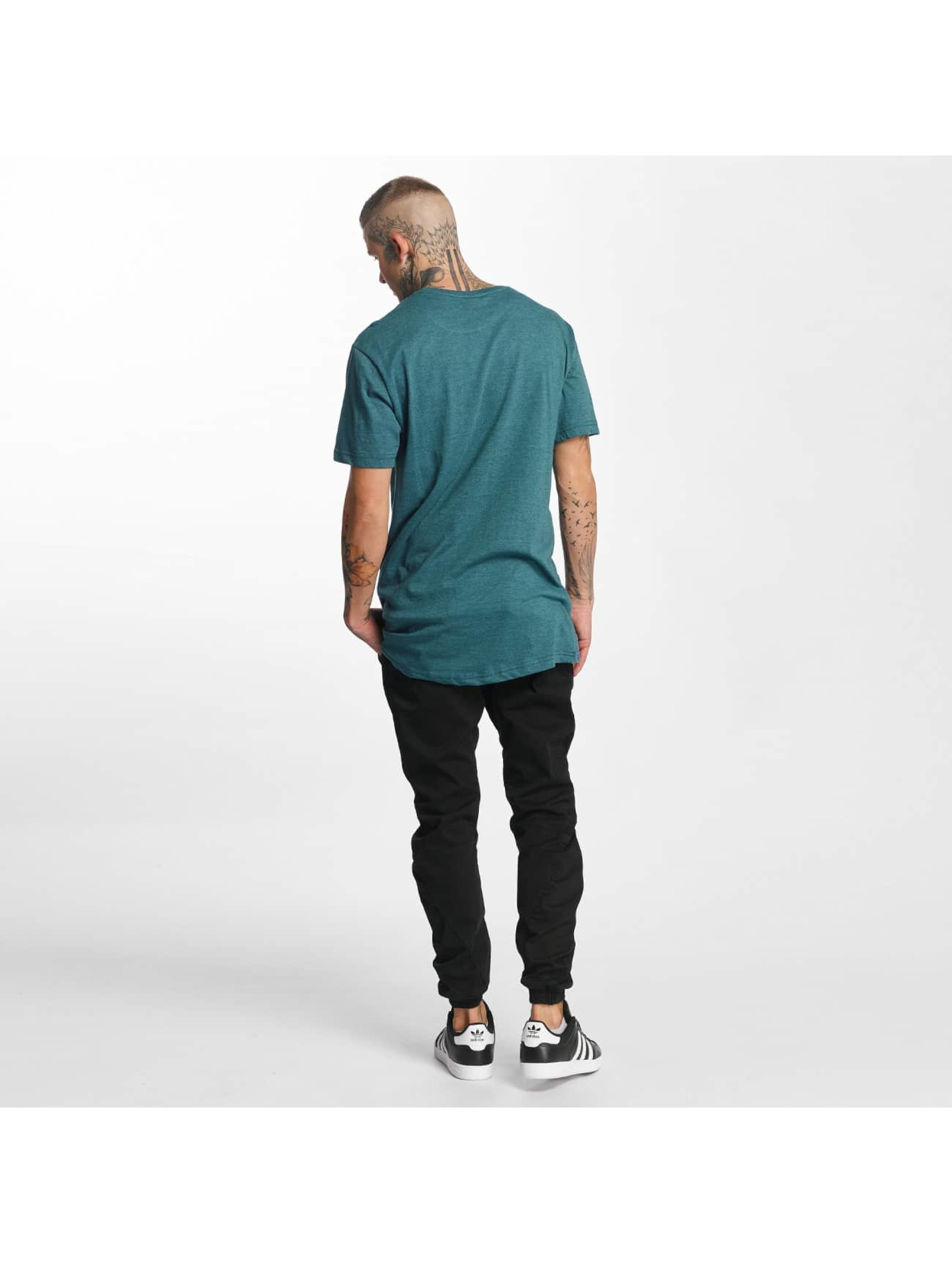 Urban Classics Tall Tees Shaped Melange Oversized Long tyrkysový