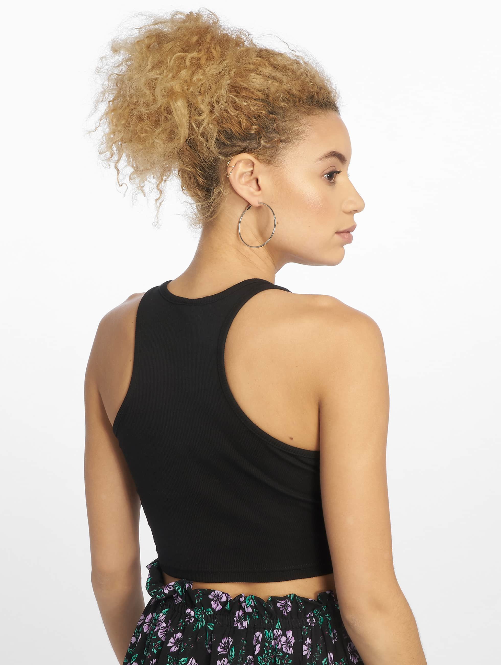 Urban Classics Tank Tops Cropped Rib black
