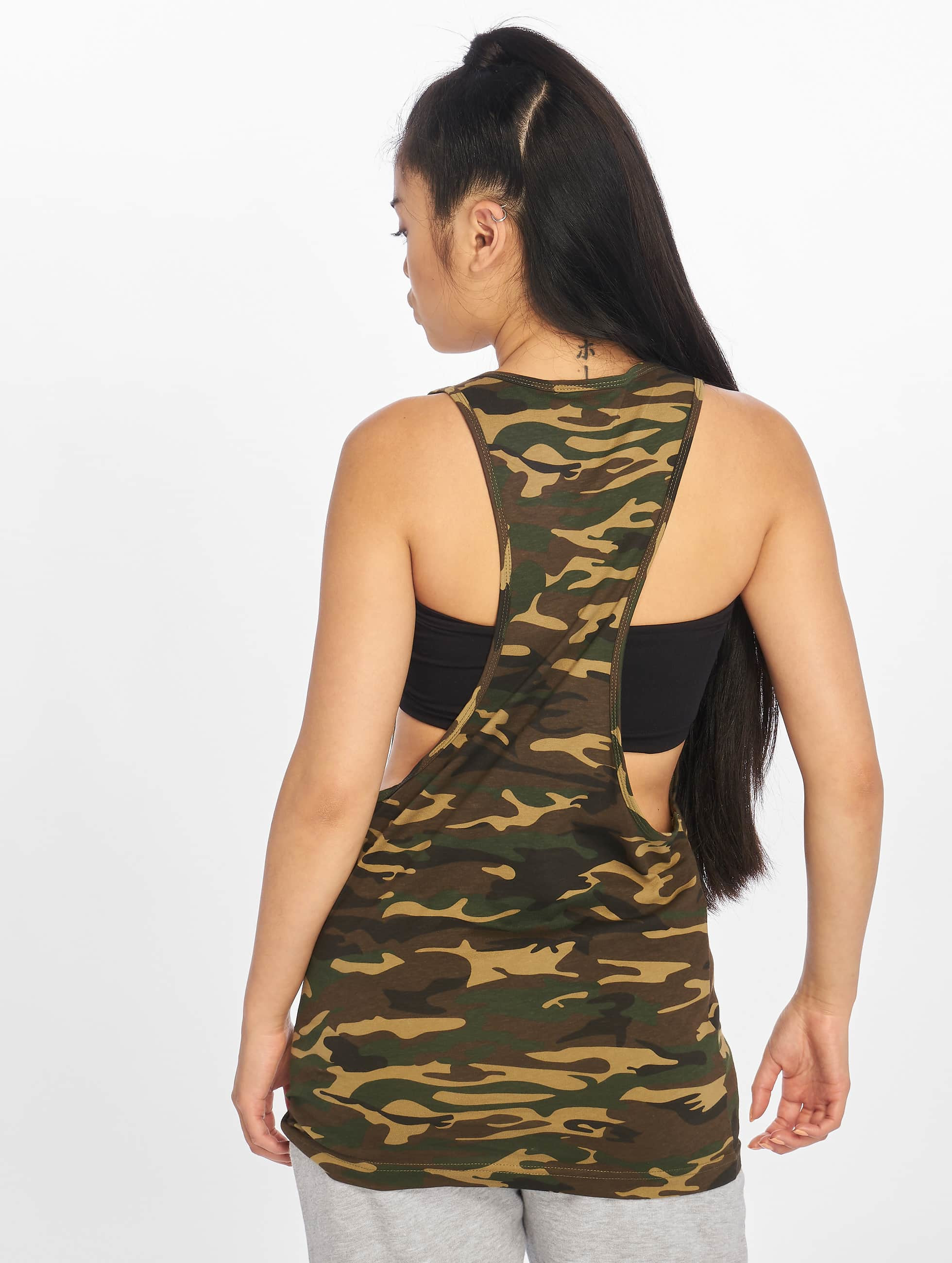 Urban Classics Tank Tops Ladies Camo Loose camouflage
