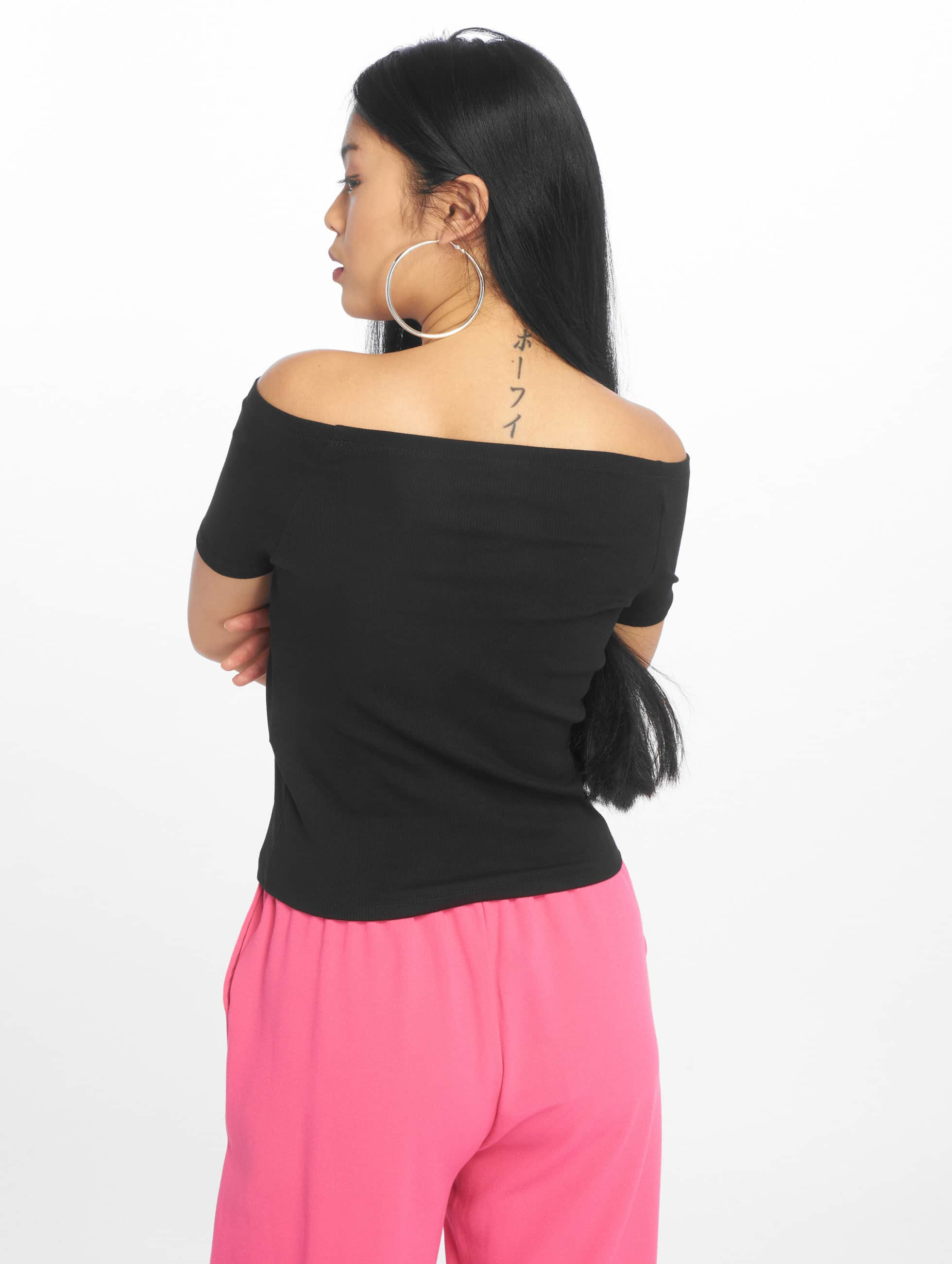 Urban Classics Topy/Tielka Off Shoulder Rib èierna