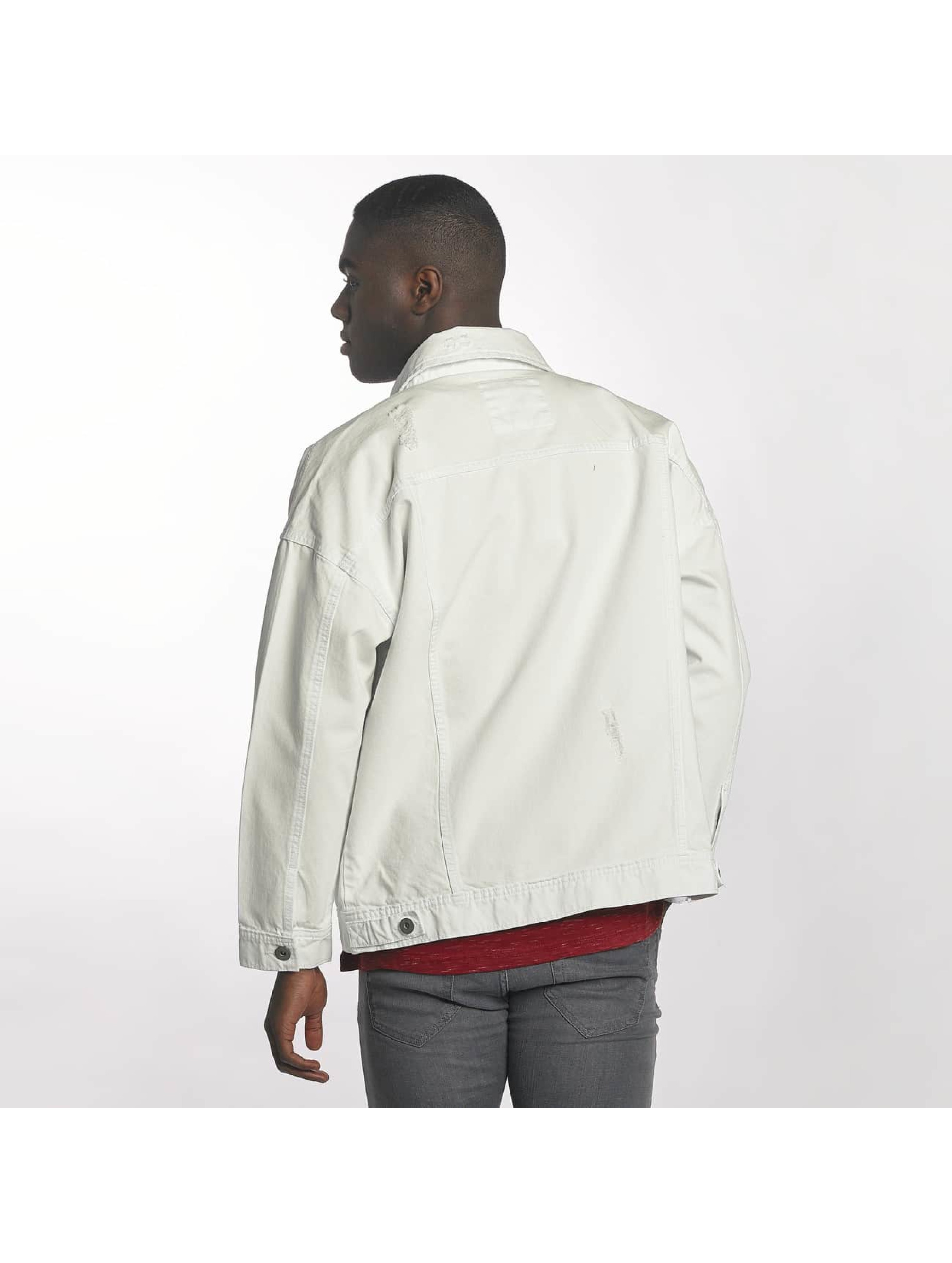 Urban Classics Transitional Jackets Ripped Denim hvit