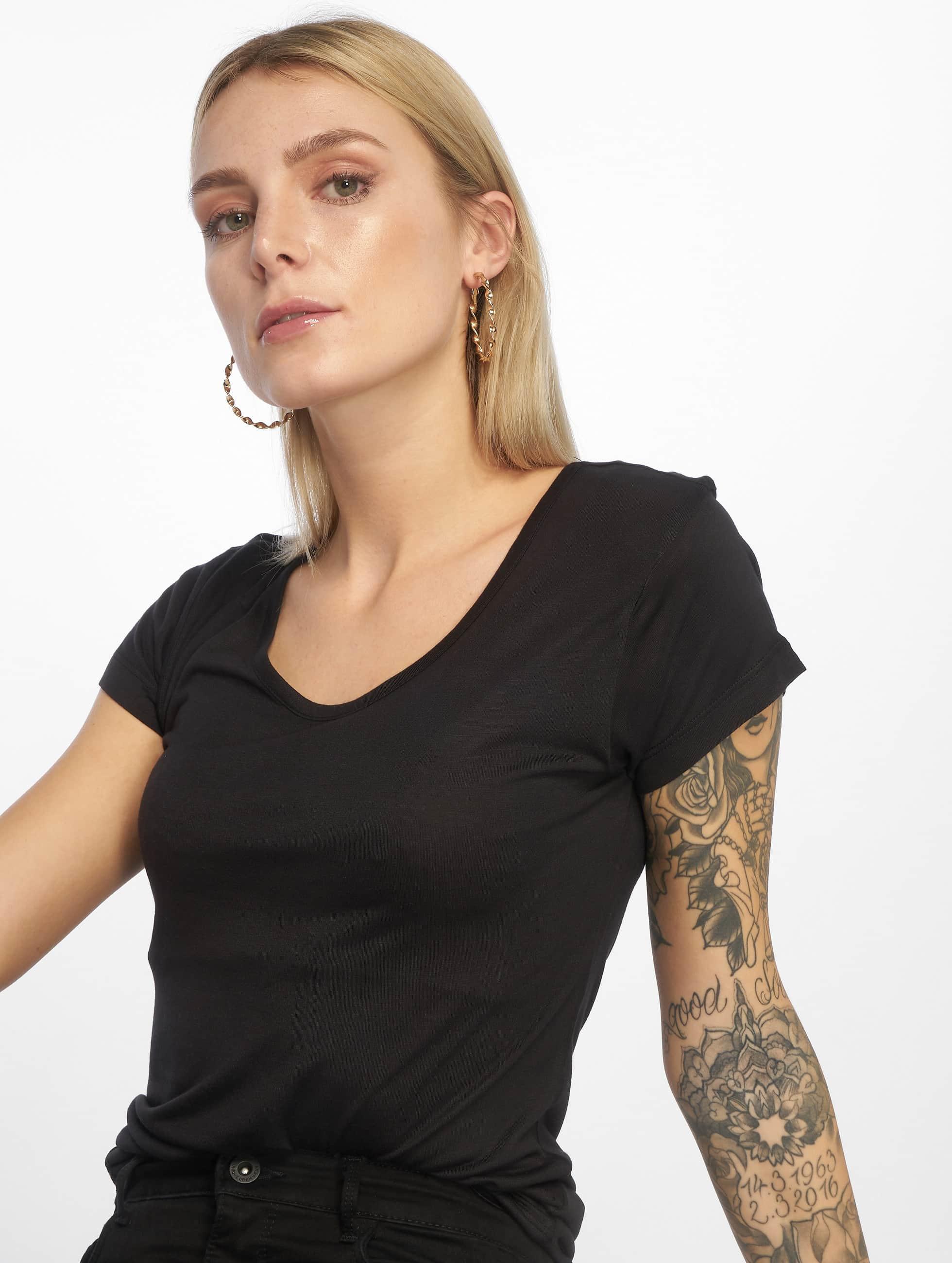 Urban Classics Tričká Ladies Basic Viscose èierna