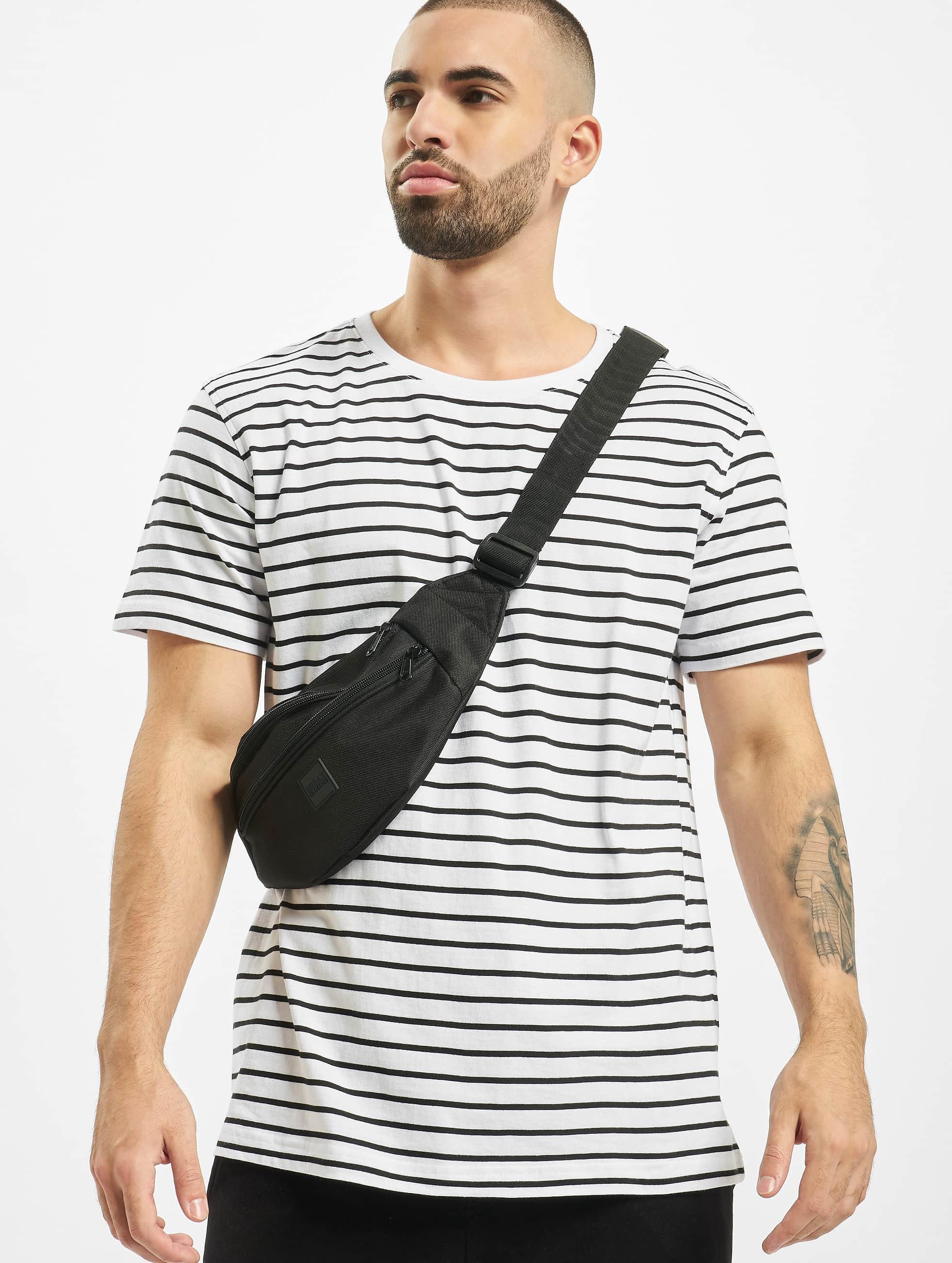 Urban Classics Tričká Striped biela