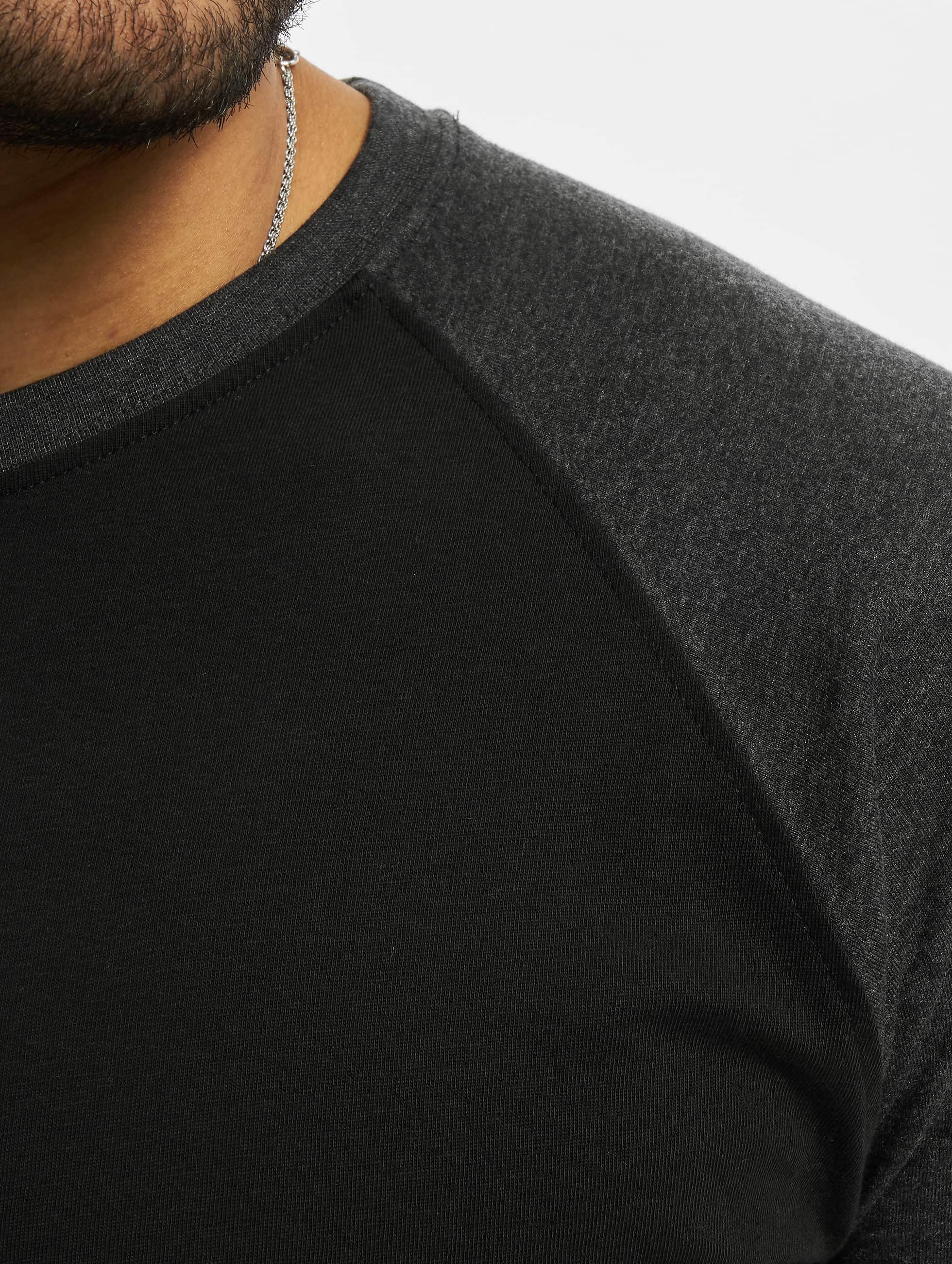 Urban Classics Tričká dlhý rukáv Contrast 3/4 Sleeve Raglan èierna