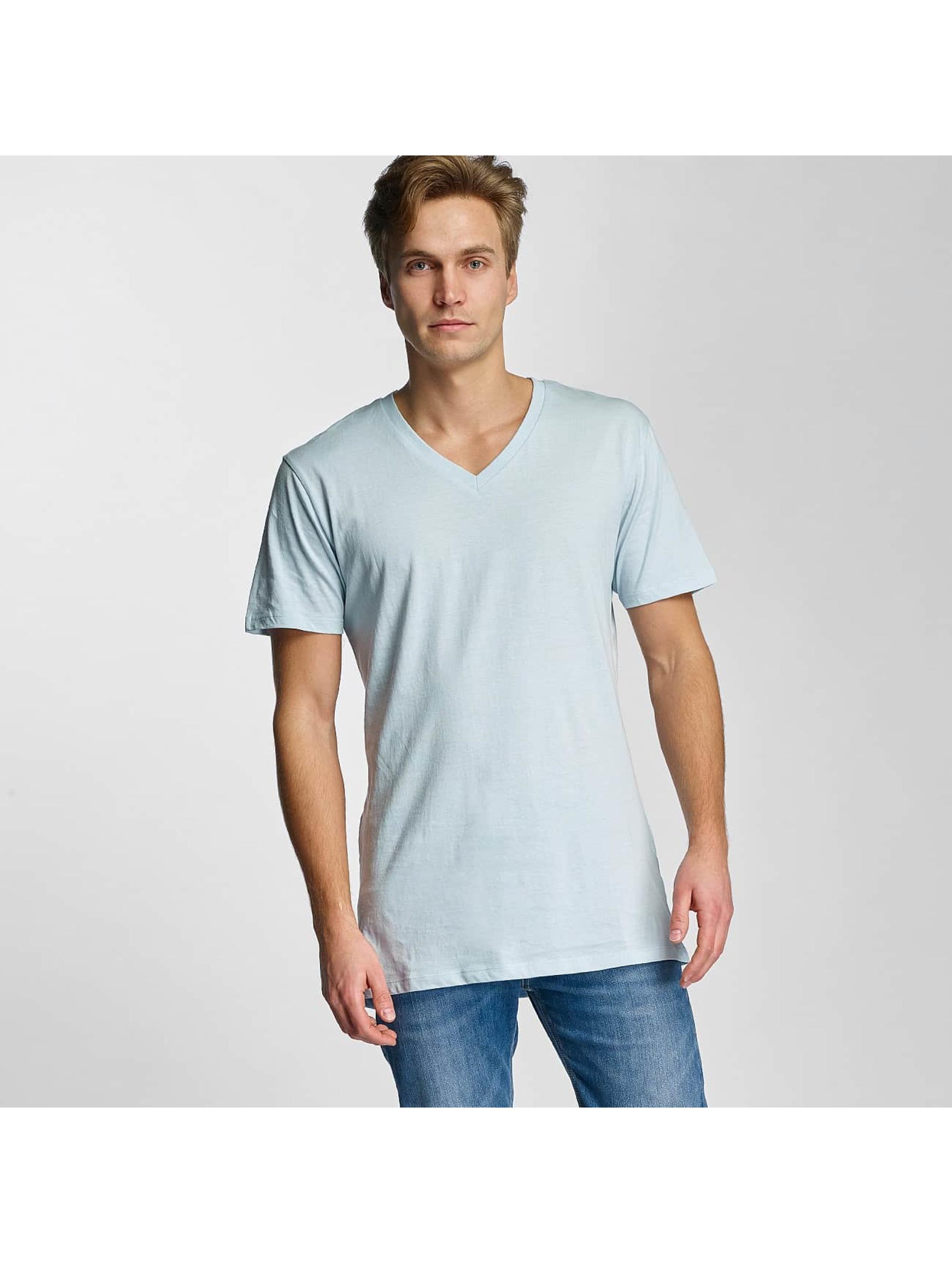 Urban Classics Tričká Basic V-Neck modrá