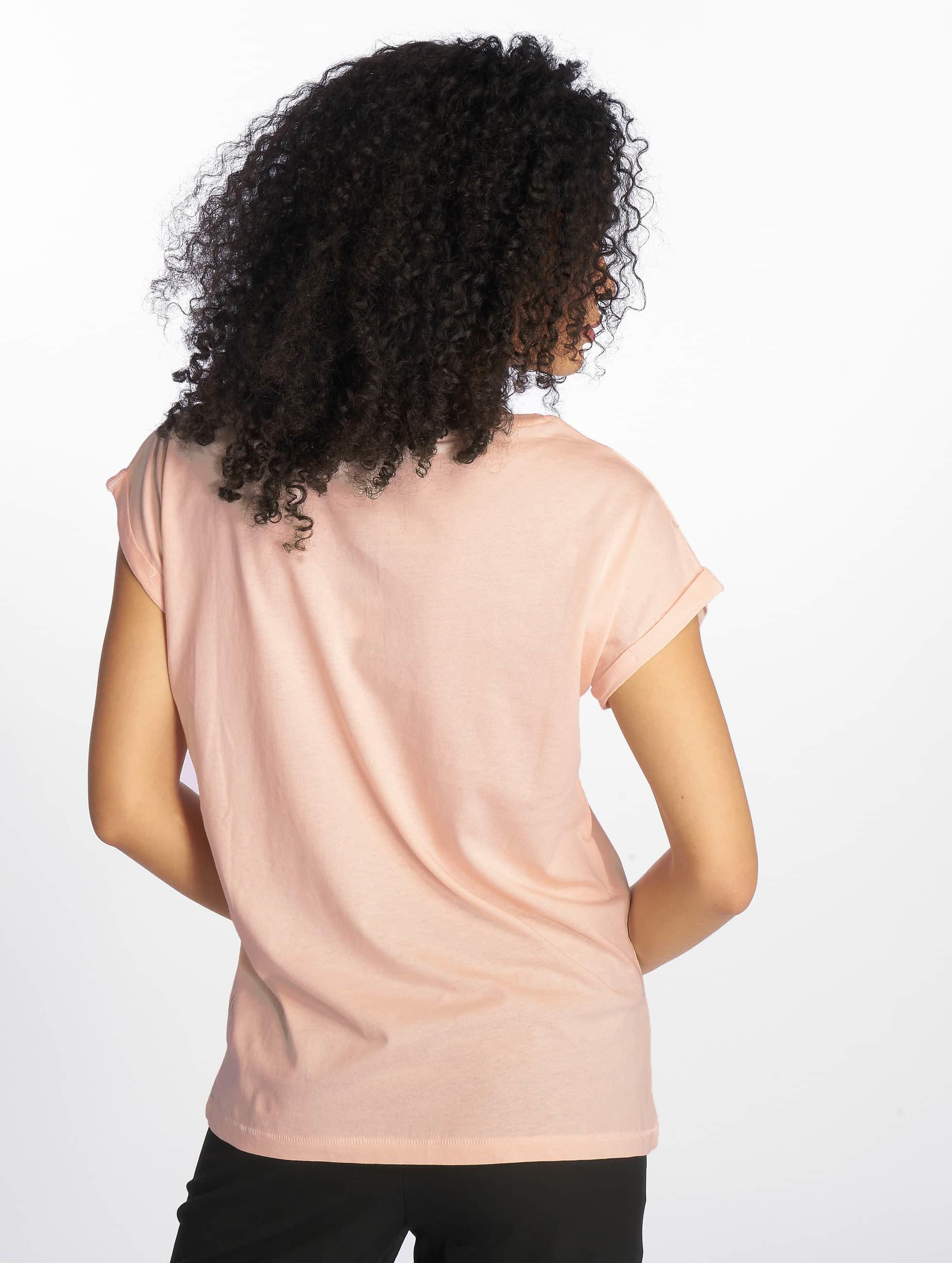 Urban Classics Tričká Extended Shoulder ružová
