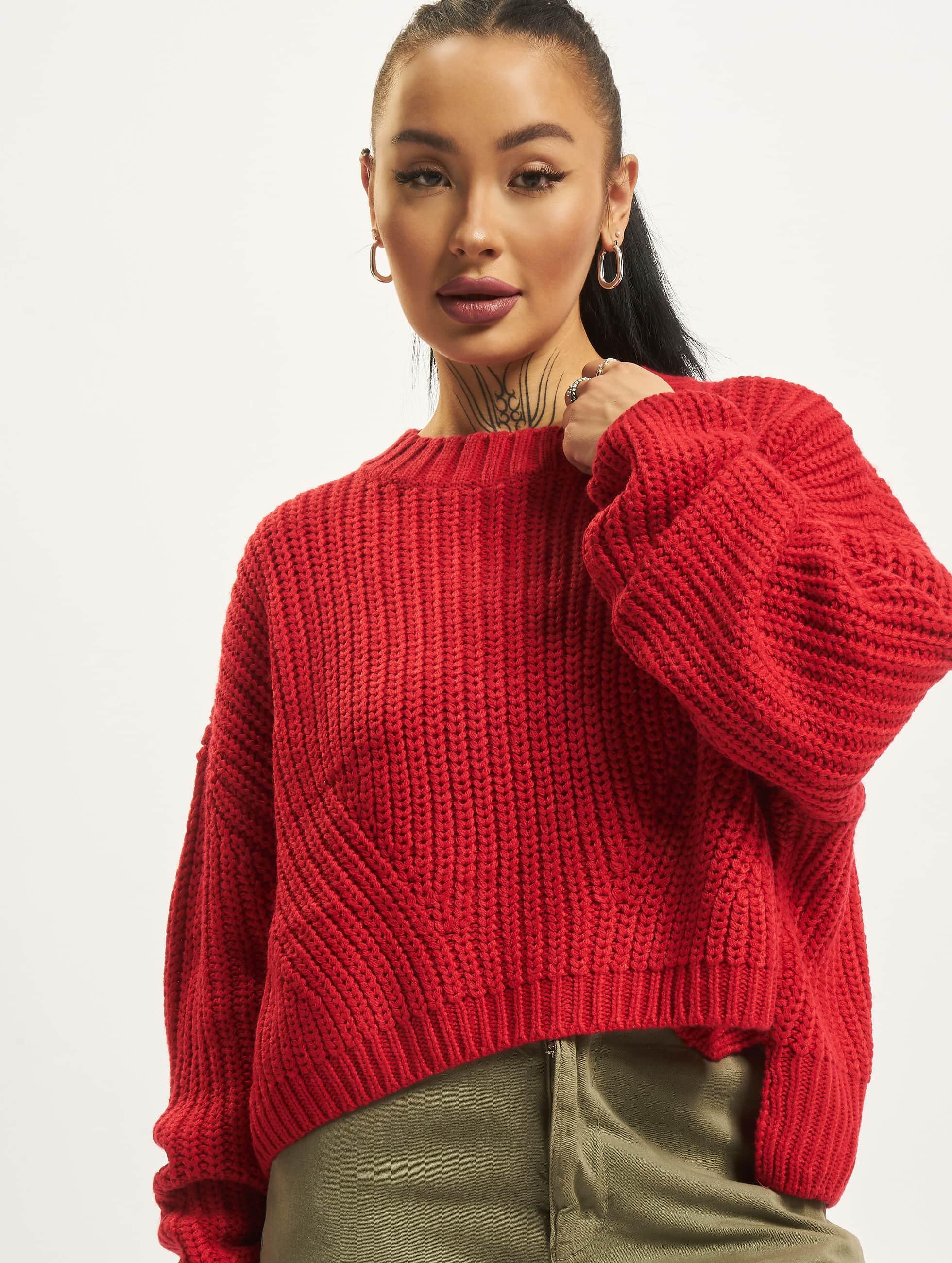 Urban Classics Wide Oversize Sweater Fire Red