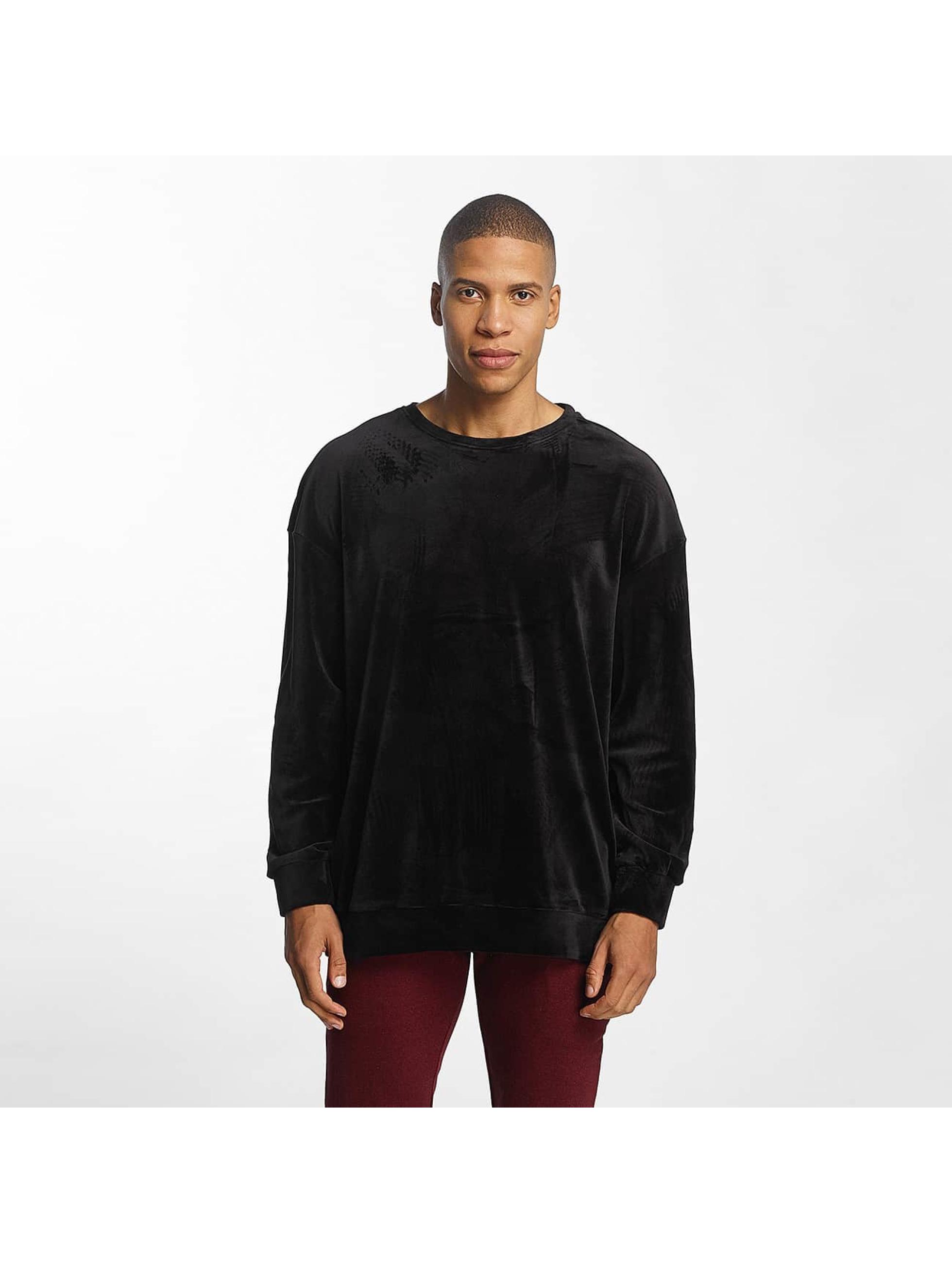 Urban Classics heren trui Velvet Oversized - zwart