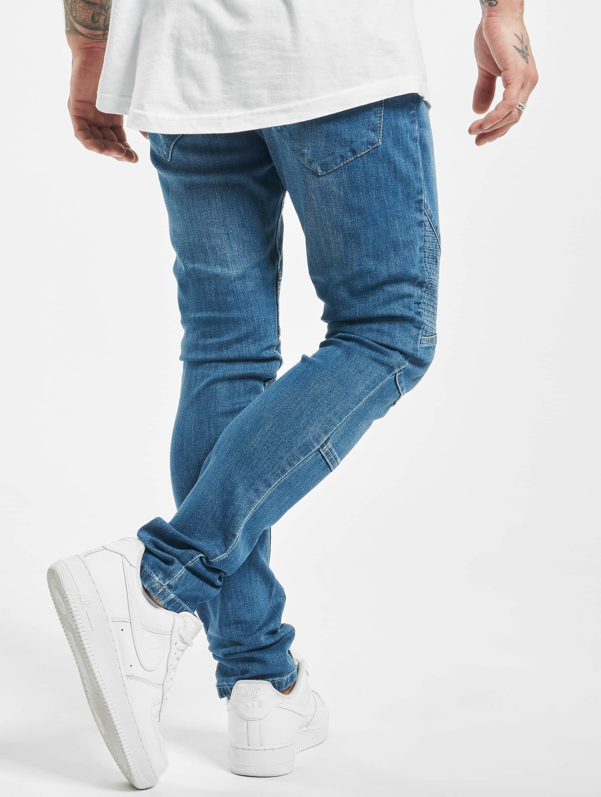 Urban Classics Tynne bukser Slim Fit Biker blå