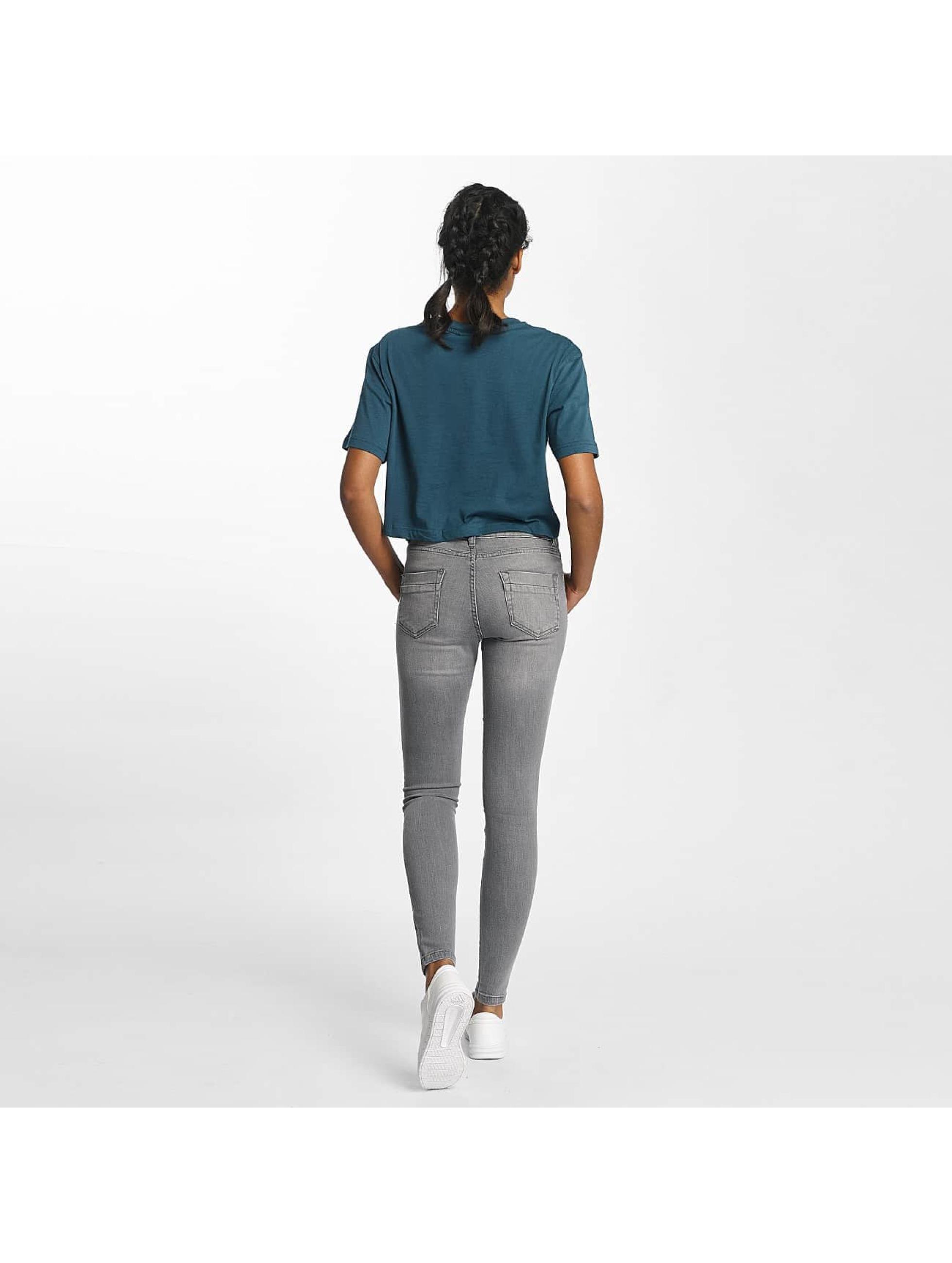Urban Classics Tynne bukser Skinny Denim grå