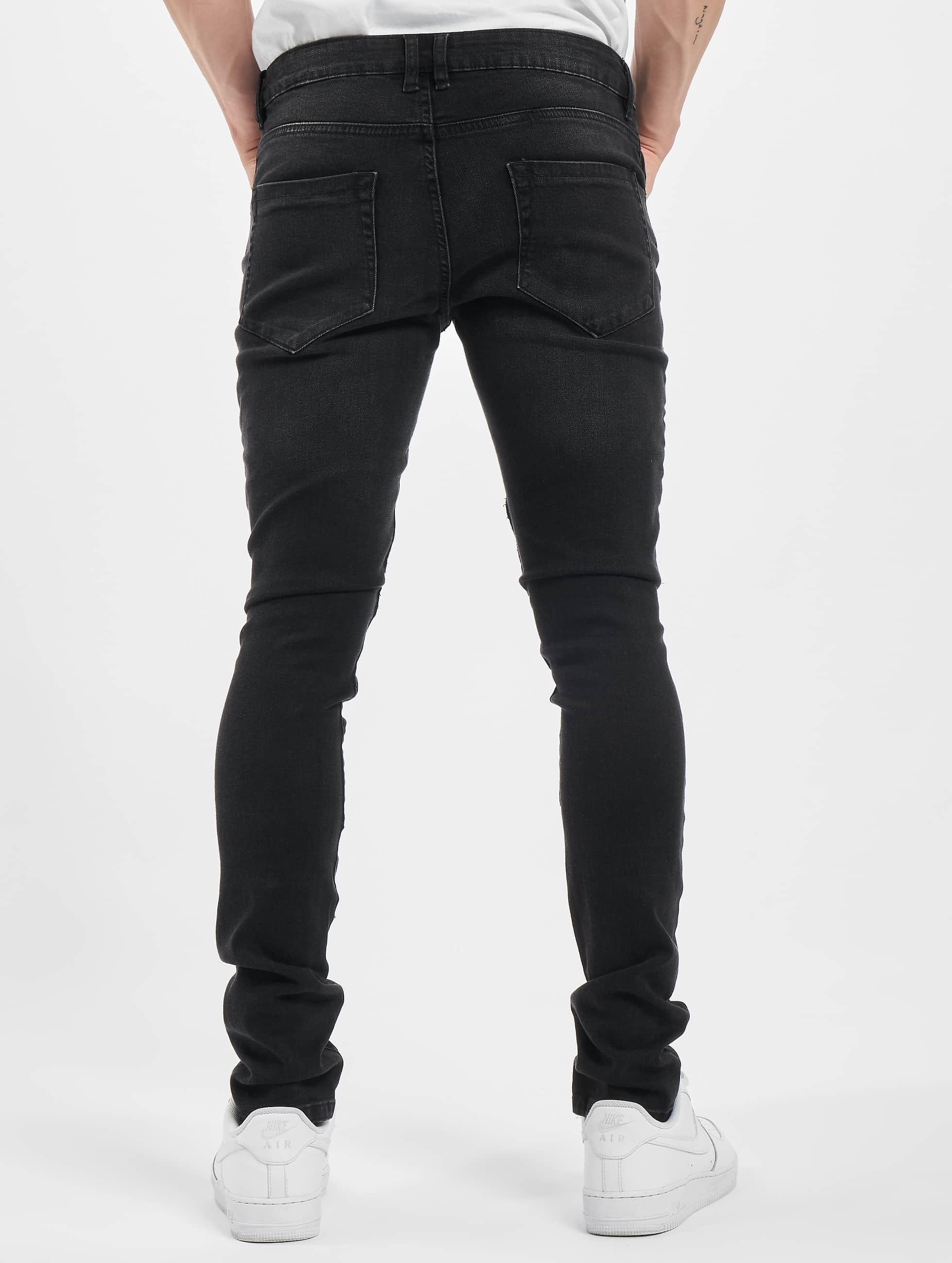 Urban Classics Tynne bukser Slim Fit Biker svart