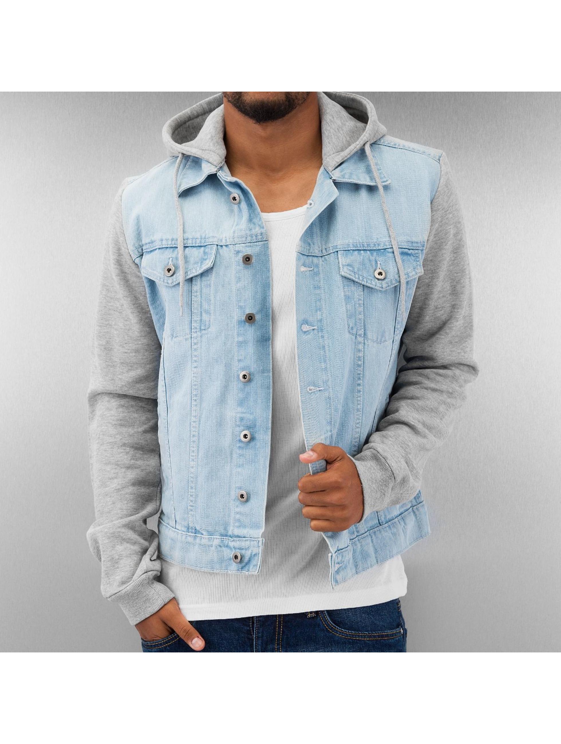 Übergangsjacke Hooded Denim Fleece in blau