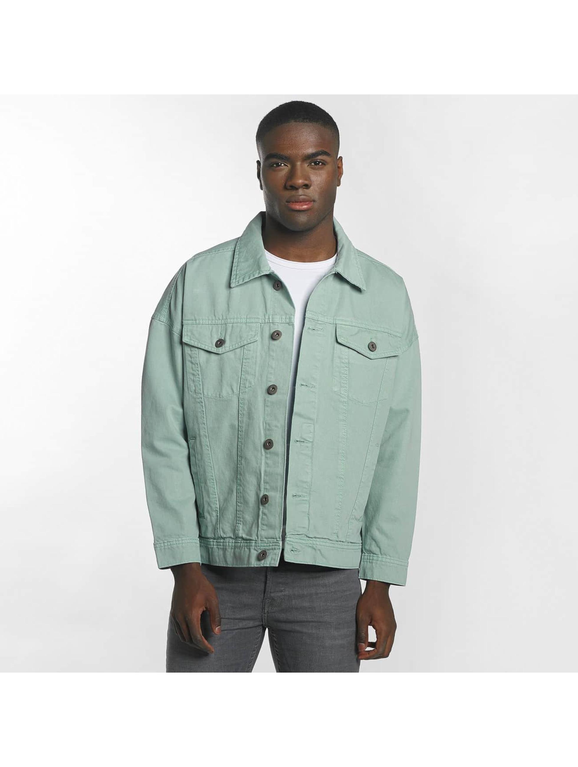 Urban Classics Übergangsjacke Garment Dye Oversize türkis