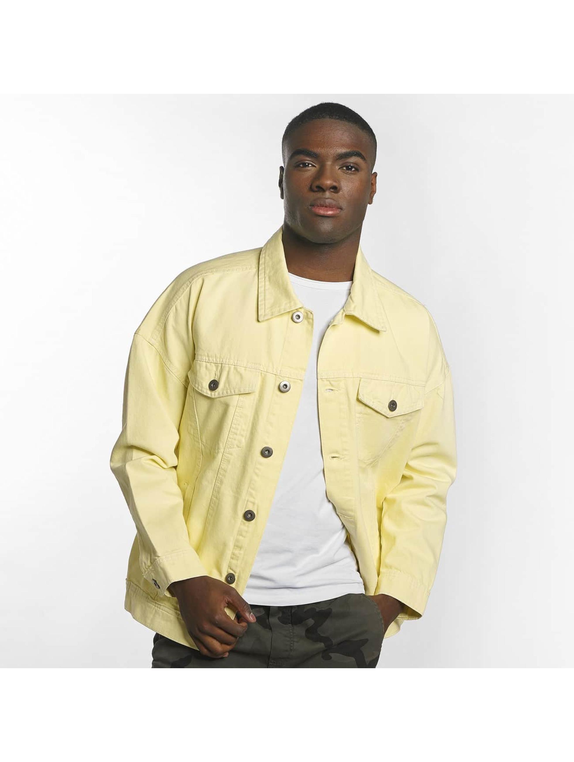 Urban Classics Välikausitakit Garment Dye Oversize keltainen