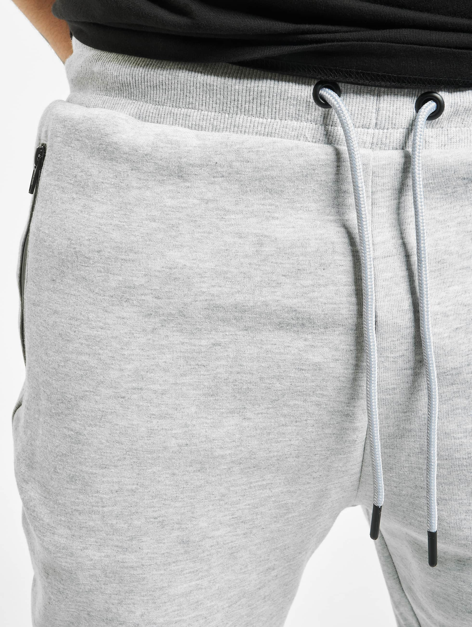 Urban Classics Verryttelyhousut Athletic Interlock harmaa